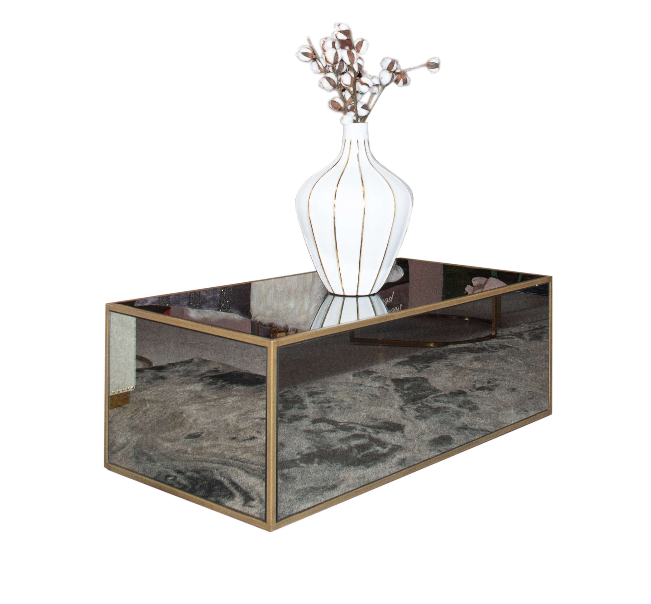 2019 Contemporary Chrome Glass Top And Mirror Shelf Coffee Tables Within Lana Mirrored Coffee Table (View 1 of 20)