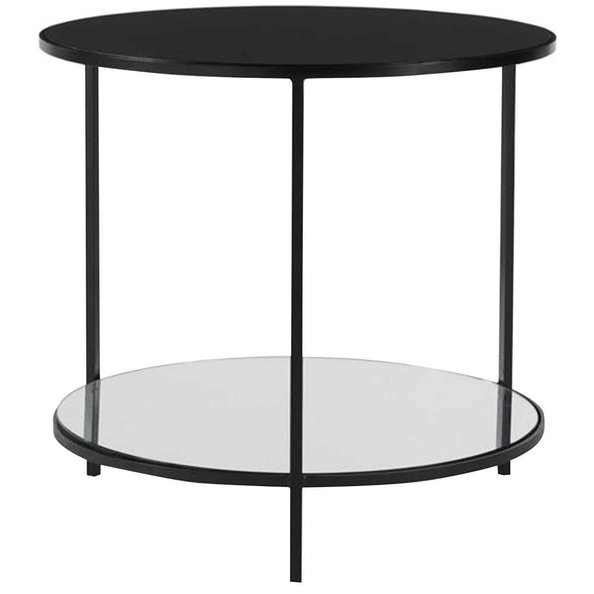 2019 Copper Grove Halesia Chocolate Bronze Round Coffee Tables With Regard To Black And Glass End Tables (View 14 of 20)