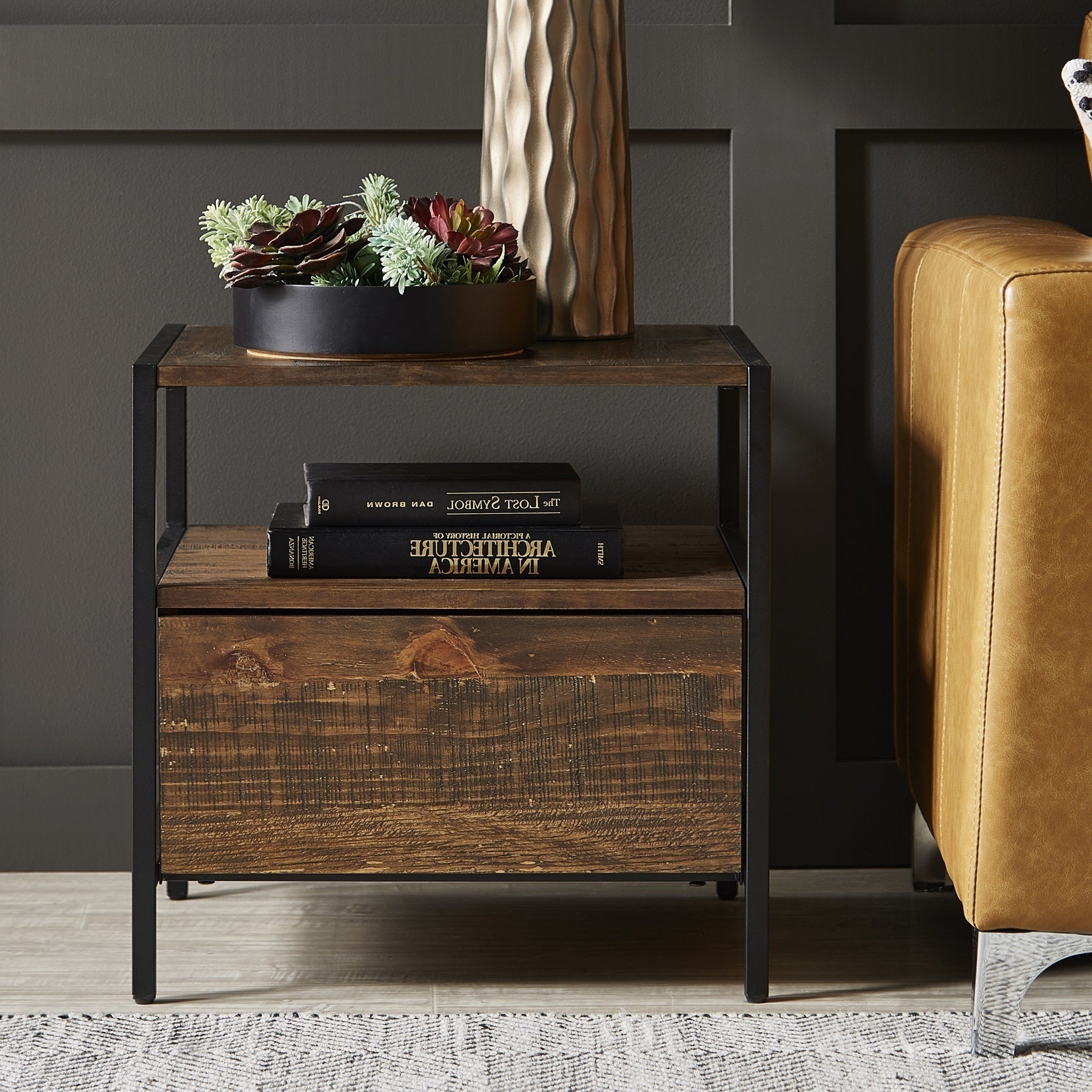 Featured Photo of Corey Rustic Brown Accent Tables