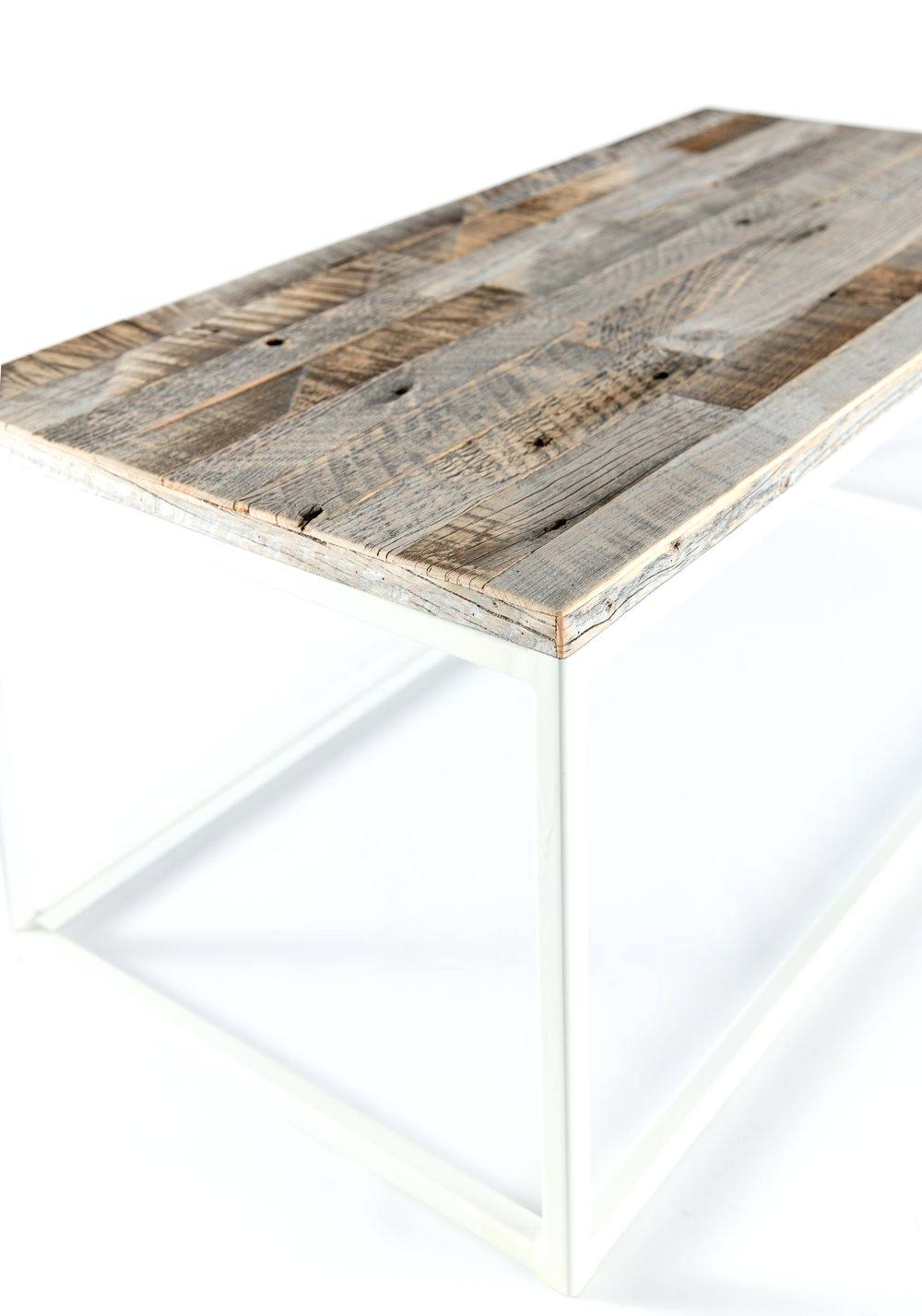 2019 Furniture Of America Charlotte Weathered Oak Glass Top Coffee Tables Inside Weathered Wood Coffee Table – Betcol (View 2 of 20)
