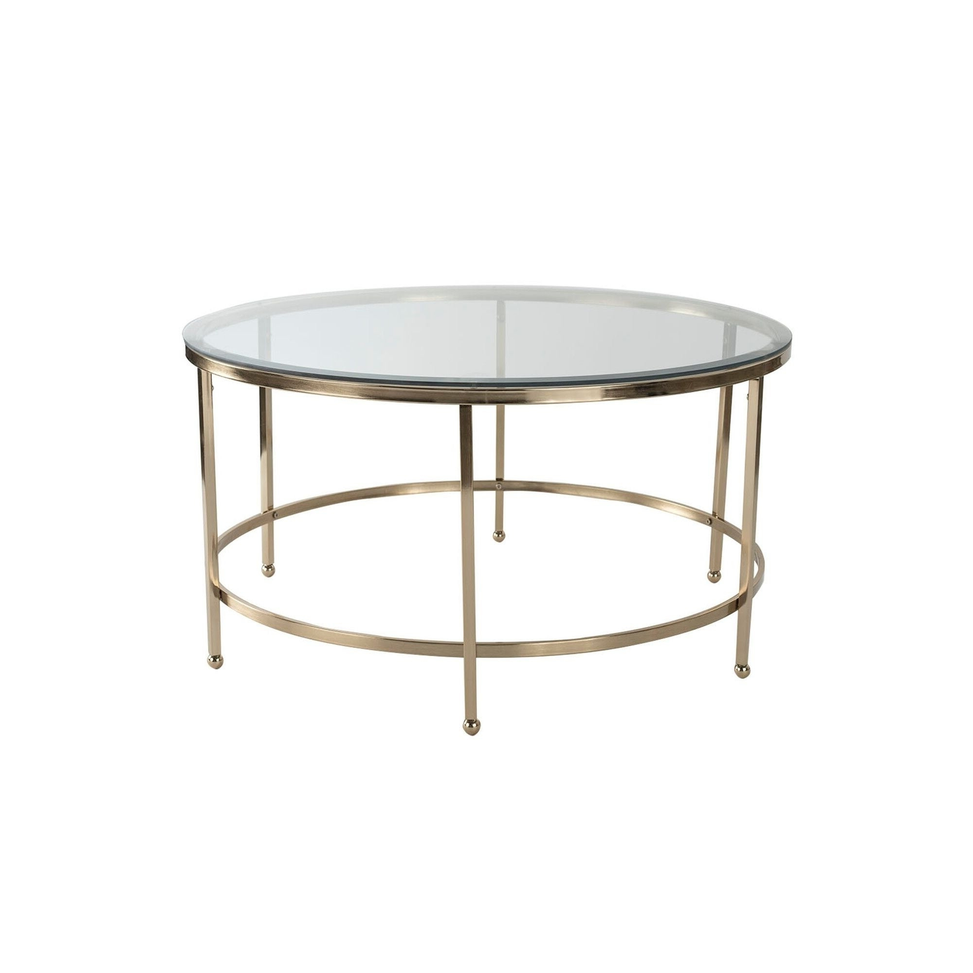 2019 Furniture Of America Orelia Brass Luxury Copper Metal Coffee Tables Throughout Adore Decor Addison Coffee Table, Gold (View 1 of 20)
