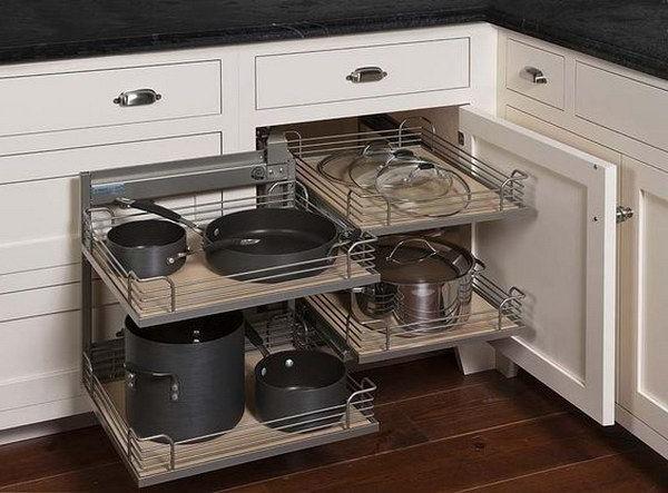2019 Kitchen Corner Cabinet Storage Ideas (View 1 of 20)