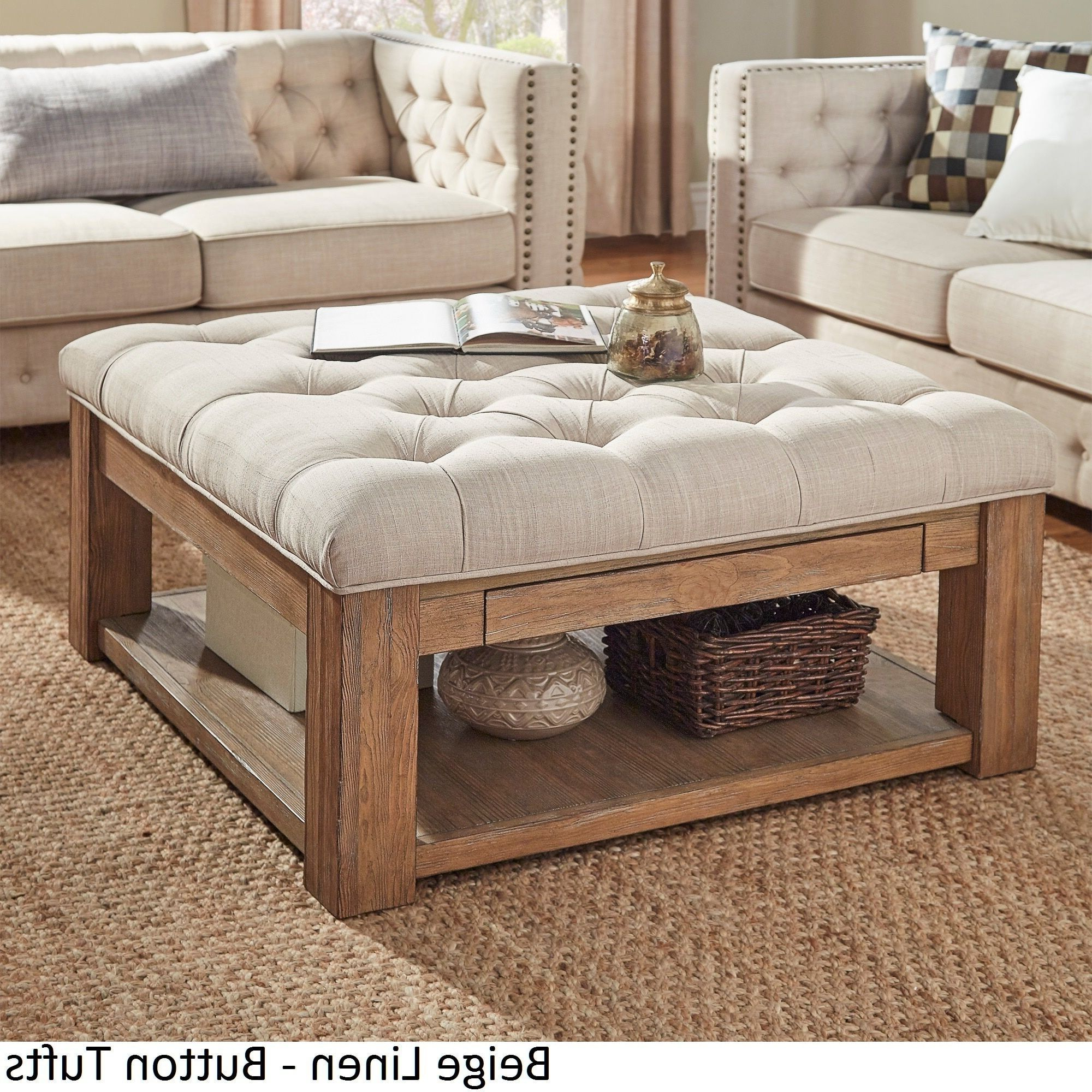 2019 Lennon Pine Planked Storage Ottoman Coffee Tables With Lennon Pine Square Storage Ottoman Coffee Tableinspire Q (Gallery 4 of 20)