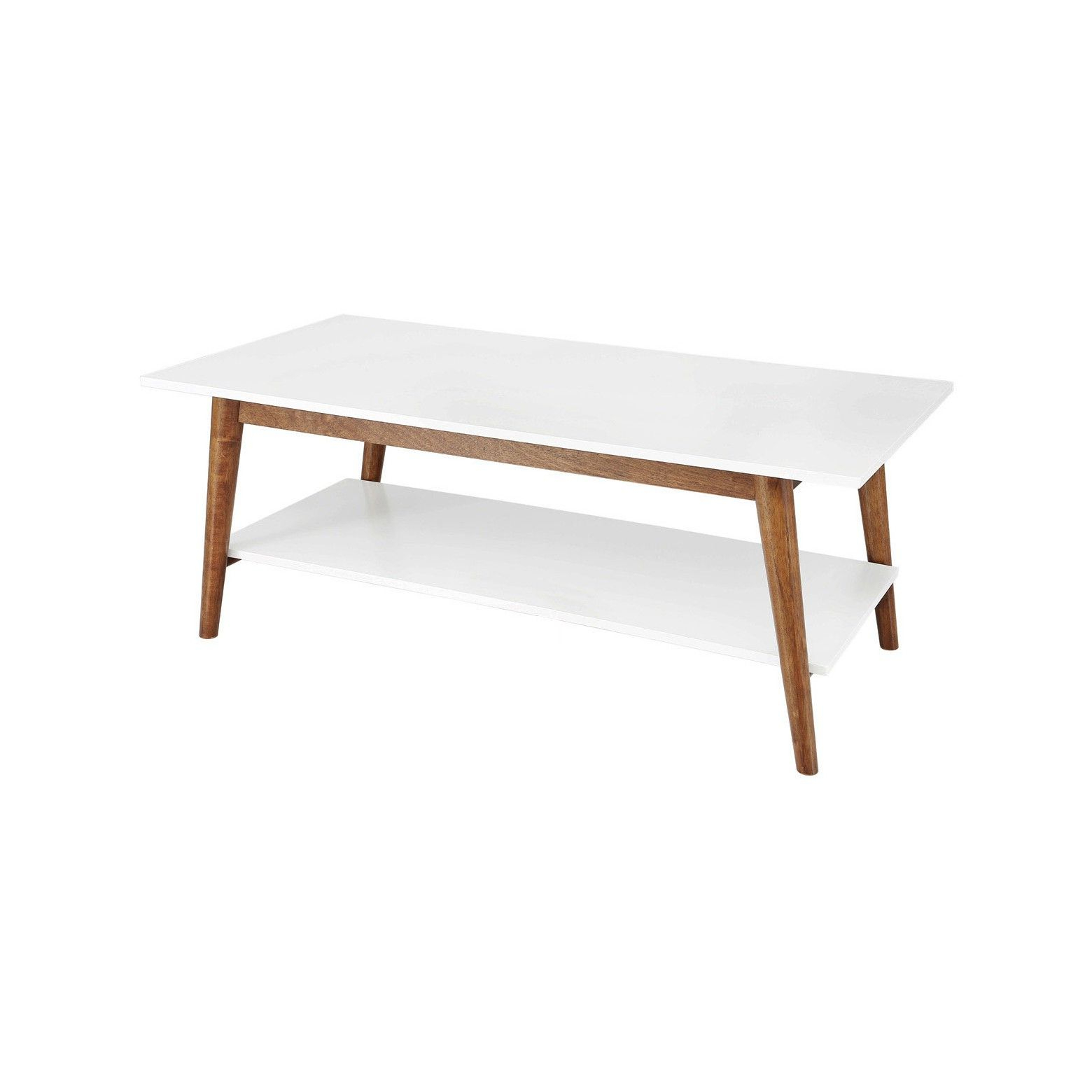 2019 Madison Park Avalon White Pecan Coffee Tables Regarding Amherst Mid Century Modern Two Tone Coffee Table White (View 15 of 20)