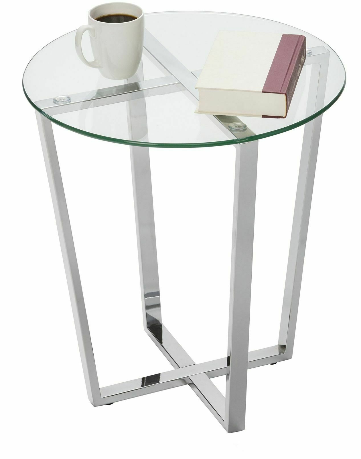 2019 Silver Orchid Bardeen Round Coffee Tables With Mango Steam Metro Glass End Table – Clear Top/chrome Base (View 17 of 20)