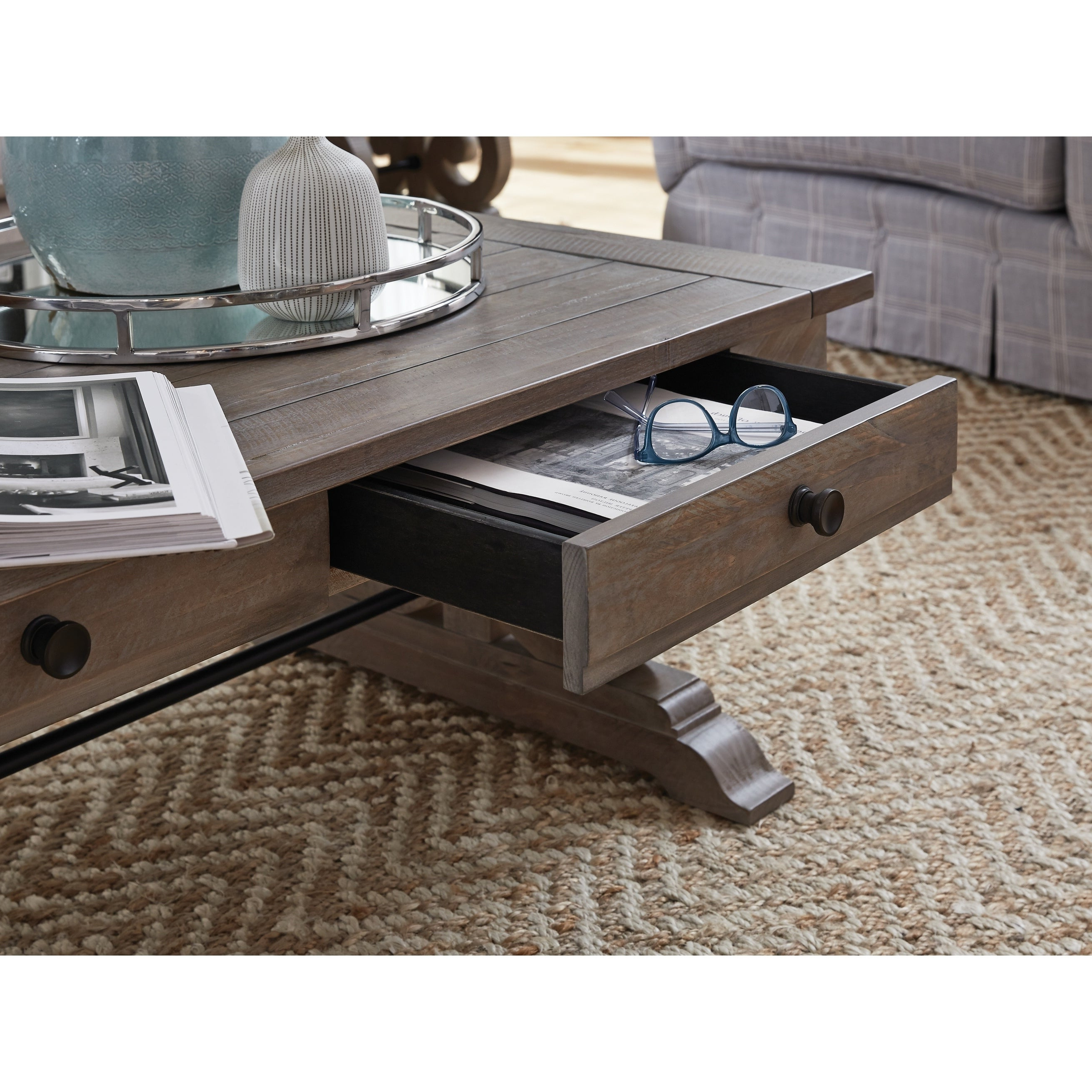 2019 Tinley Park Traditional Dove Tail Grey Coffee Tables For Tinley Park Traditional Dove Tail Grey Coffee Table (Gallery 3 of 20)
