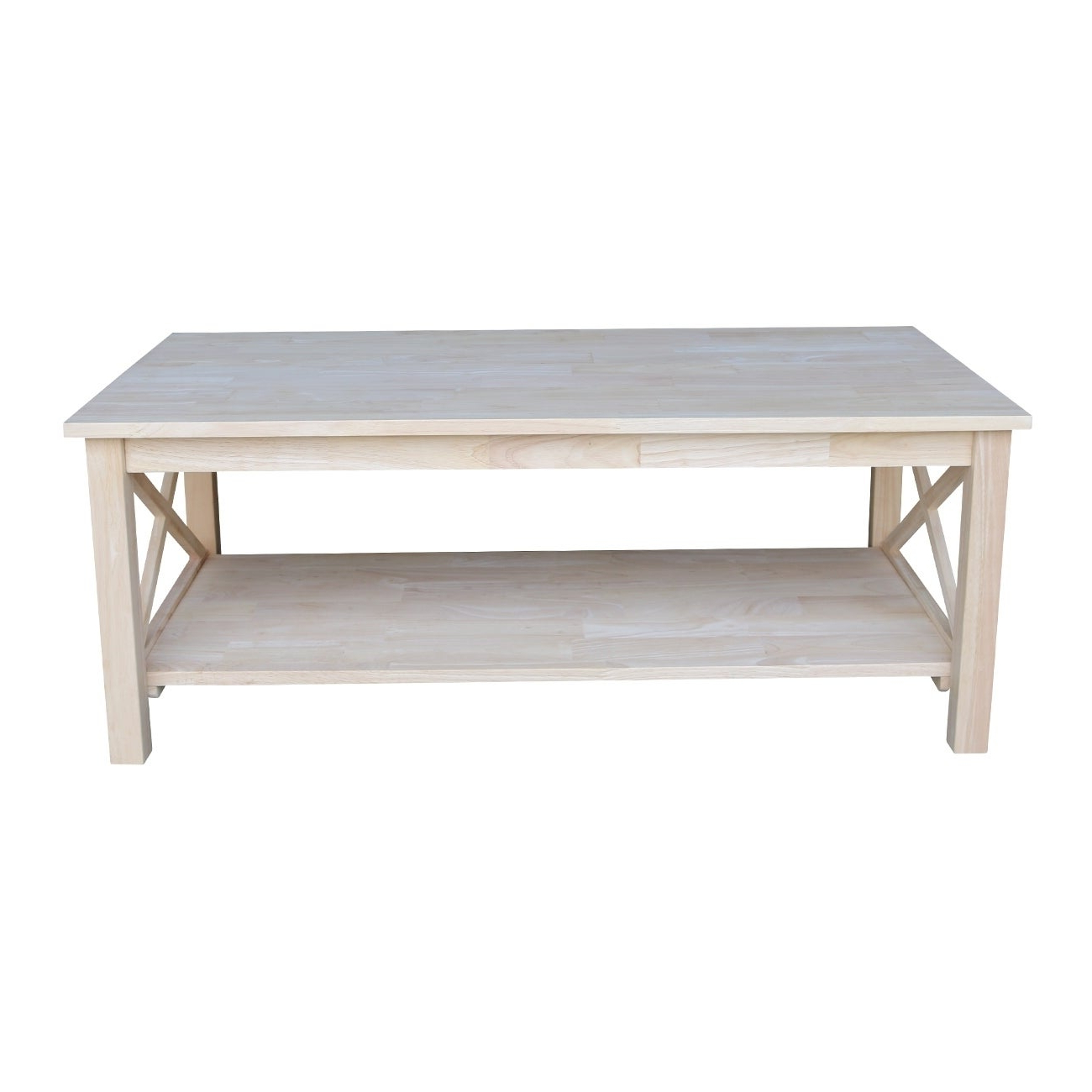 2019 Unfinished Solid Parawood Hampton Coffee Tables Inside Unfinished Solid Parawood Hampton Coffee Table (Gallery 4 of 20)