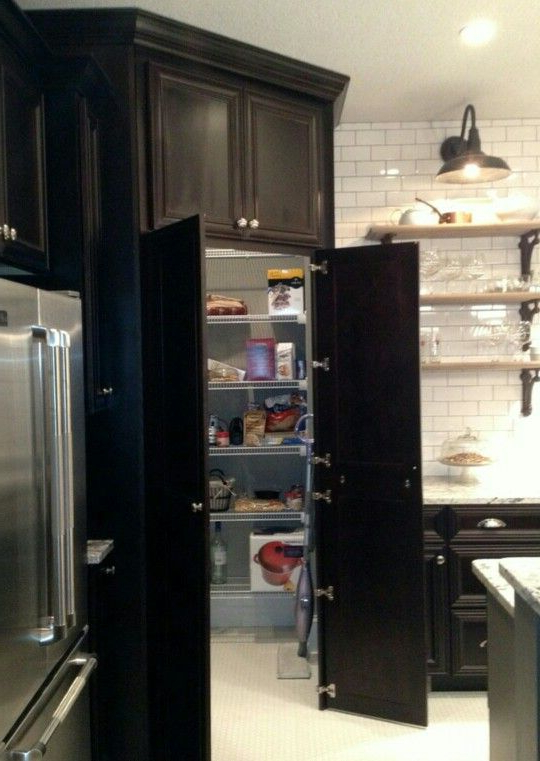 2020 Camila Kitchen Pantry For Walk In Pantry Disguisedcabinetry •houzz• (View 2 of 20)