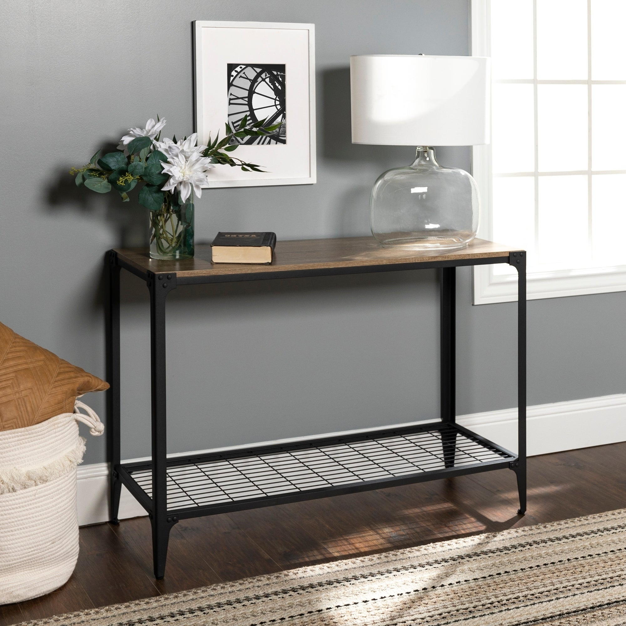 2020 Carbon Loft Witten Angle Iron And Driftwood Coffee Tables Pertaining To Carbon Loft Witten Angle Iron And Driftwood Entry Table – 44 X 16 X 30H (View 1 of 20)