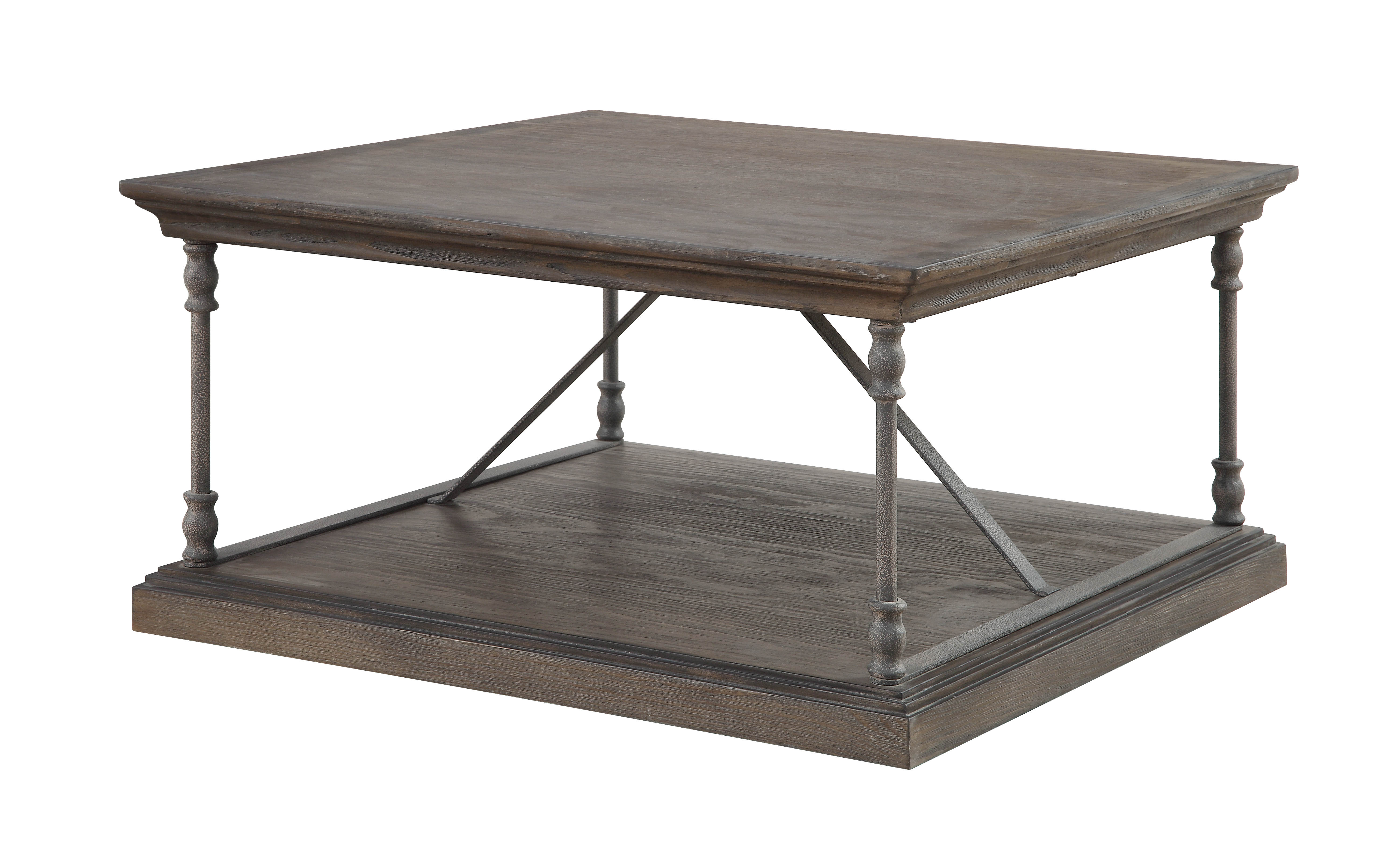 2020 Cosbin Rustic Bold Antique Black Coffee Tables Within Coast To Coast Corbin Brown Square Cocktail Table (Gallery 17 of 20)