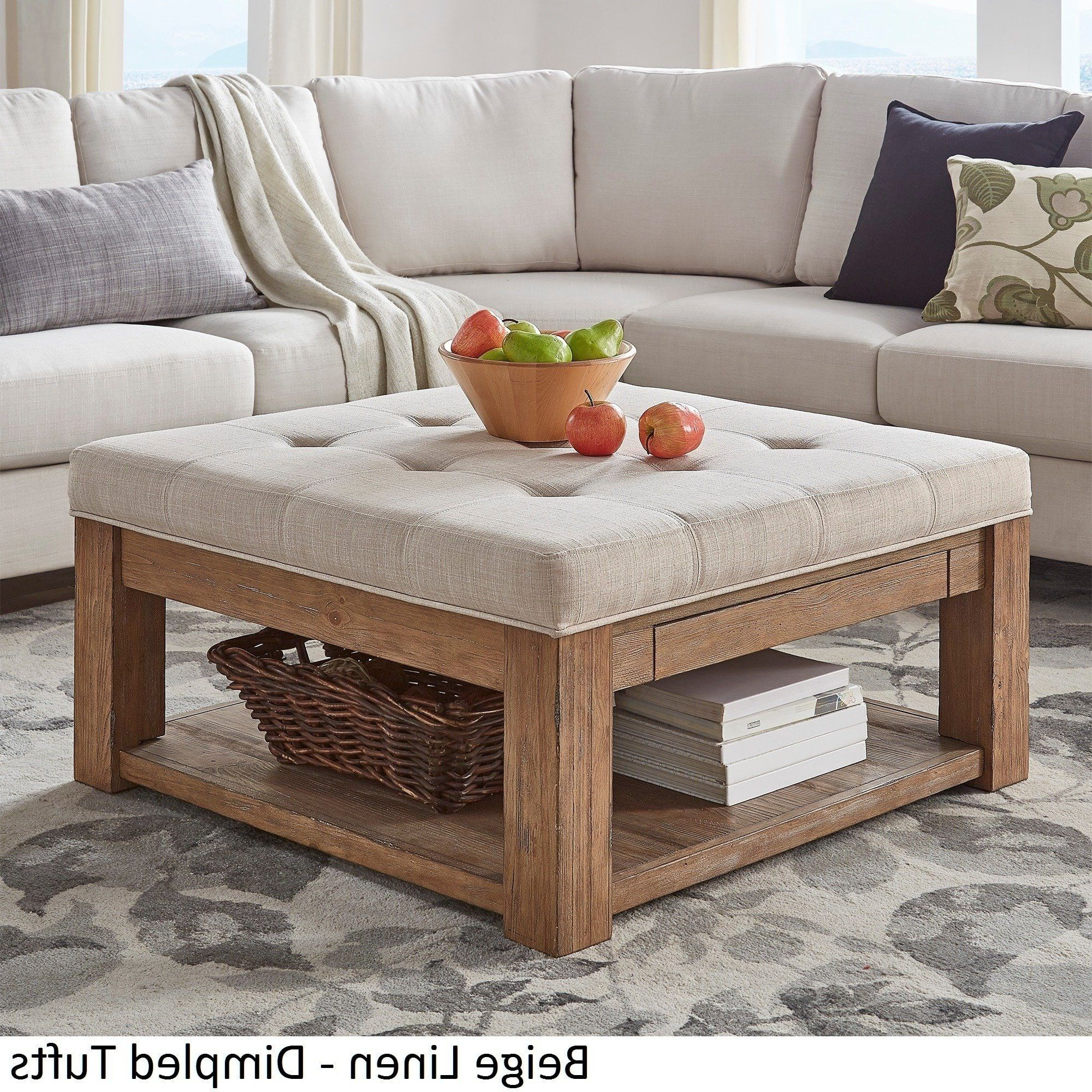 2020 Lennon Pine Square Storage Ottoman Coffee Tables Within Lennon Pine Square Storage Ottoman Coffee Tableinspire Q (Gallery 10 of 20)