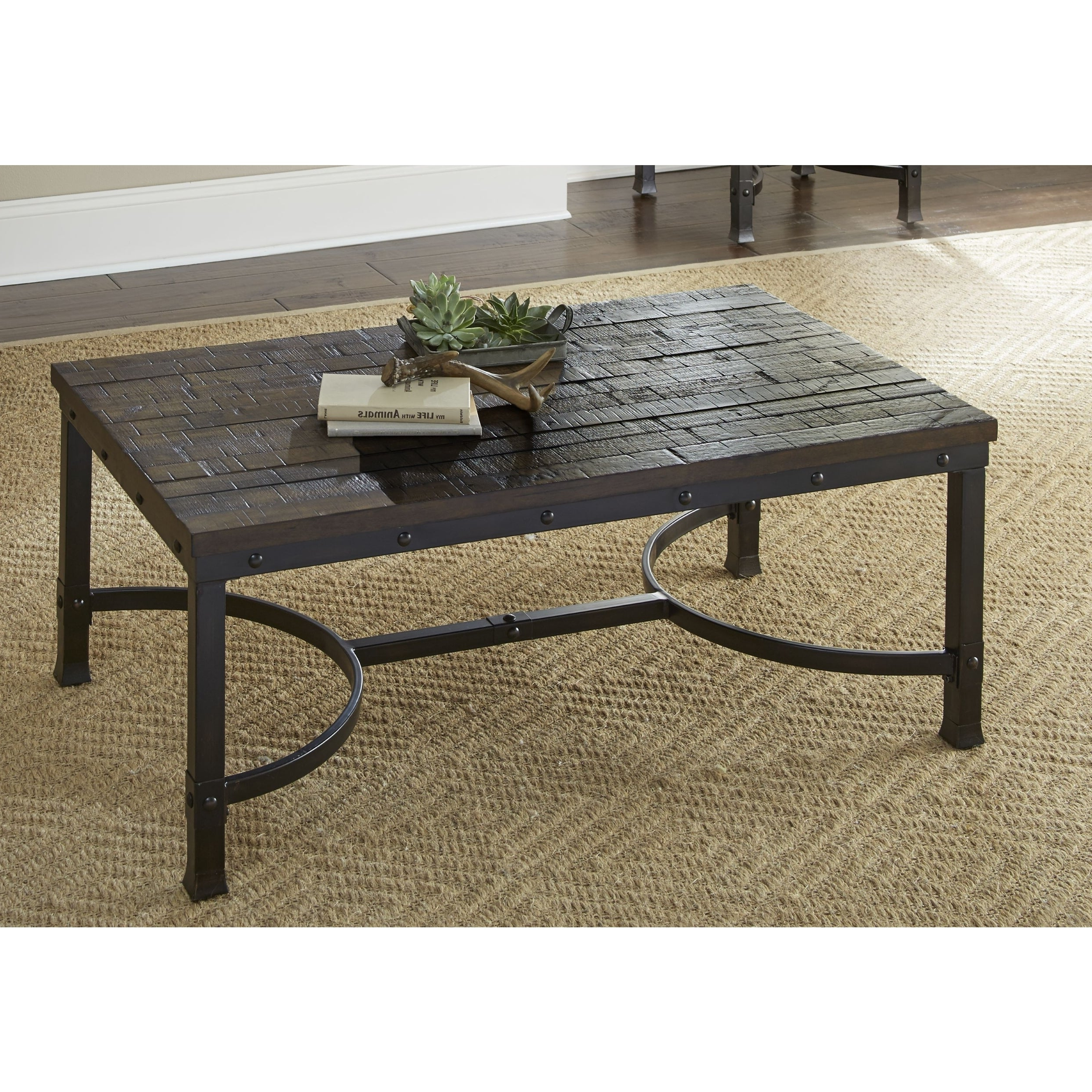 2020 Lockwood Rectangle Coffee Tables In Austin Industrial Style 48 Inch Rectangle Coffee Tablegreyson Living (View 1 of 20)