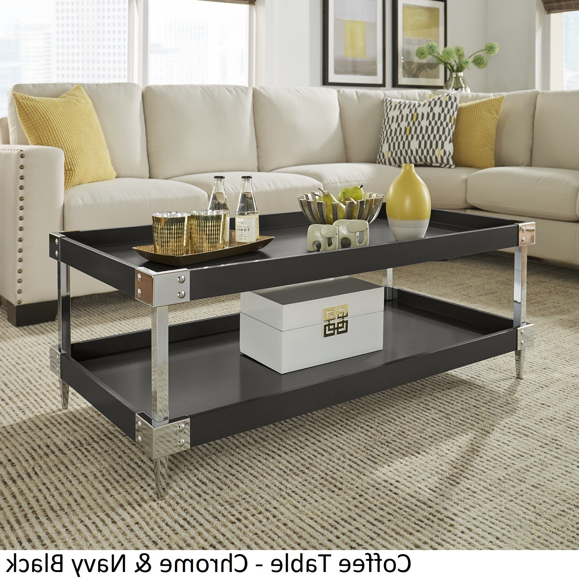 2020 Occasional Contemporary Black Coffee Tables Throughout Kaila Modern Metal Accent Occasional Tablesinspire Q (Gallery 14 of 20)