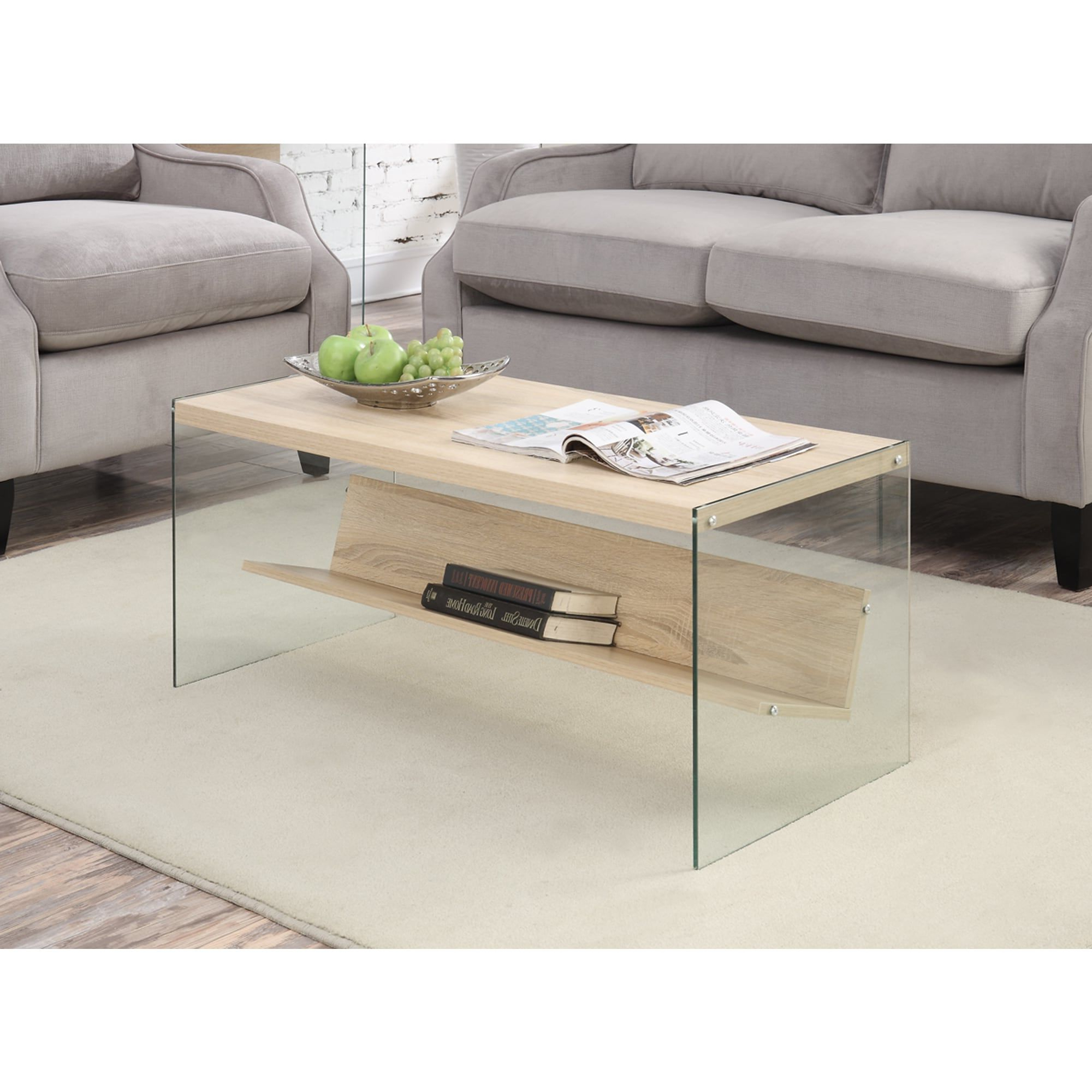 2020 Porch & Den Urqhuart Wood Glass Coffee Tables Regarding Porch & Den Urqhuart Wood/ Glass Coffee Table (Gallery 1 of 20)