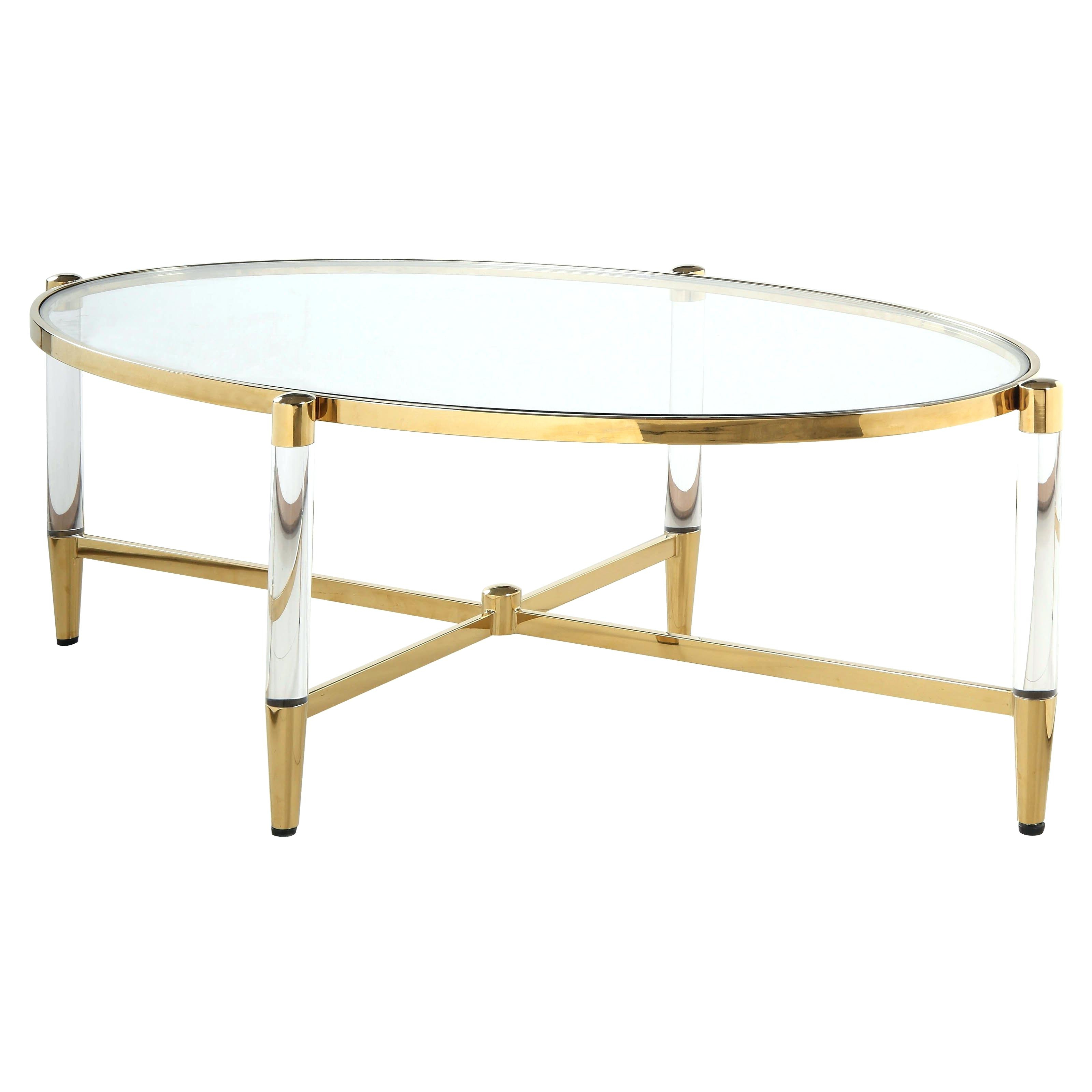 2020 Propel Modern Chrome Oval Coffee Tables Within Glass Oval Coffee Table – Thefeelancer.co (Gallery 8 of 20)