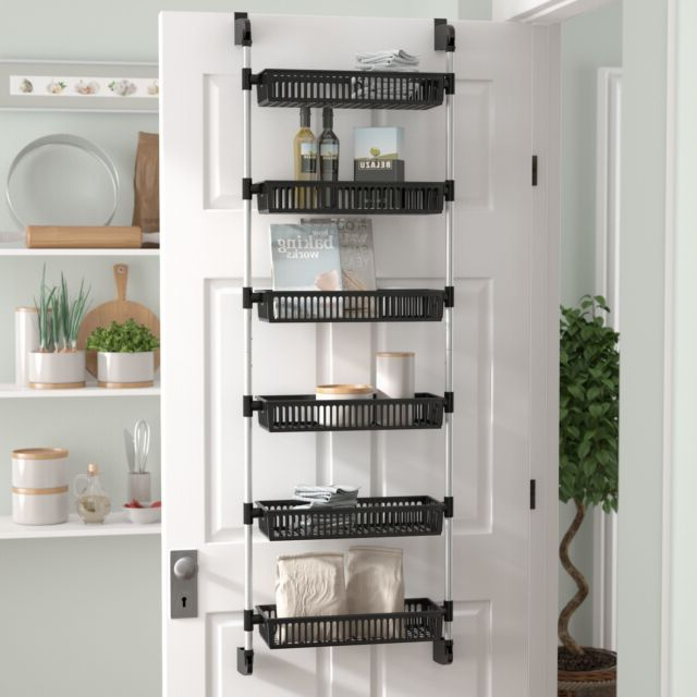 2020 Rebrilliant Prestridge Overdoor 6 Shelf Cabinet Door Organizer With Regard To Kitchen Pantry By Rebrilliant (View 11 of 20)