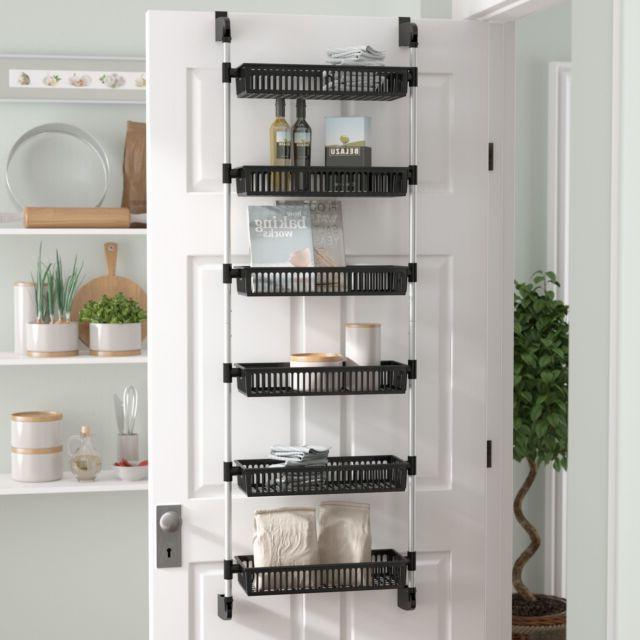 2020 Rebrilliant Prestridge Overdoor 6 Shelf Cabinet Door Organizer With Regard To Kitchen Pantry By Rebrilliant (View 1 of 20)