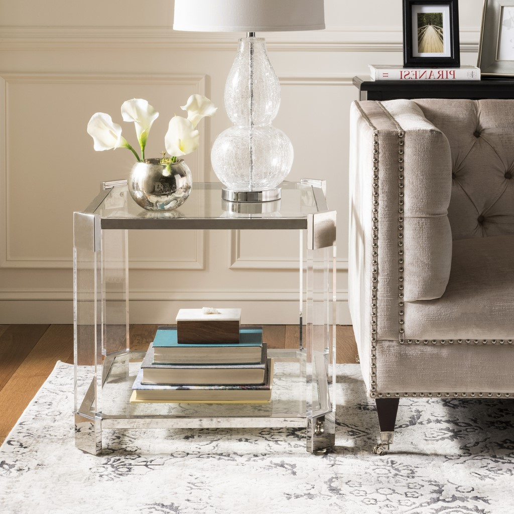 2020 Safavieh Couture Gianna Glass Coffee Tables With Gianna Glass End Table – Safavieh (Gallery 6 of 20)
