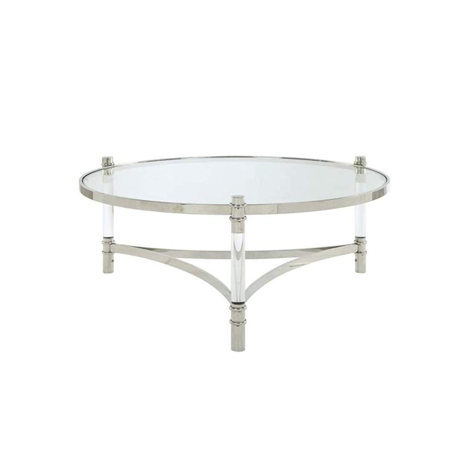 2020 Silver Orchid Bardeen Round Coffee Tables For Coffe Table ~ Coffe Table Silver Round Coffee Glass And (Gallery 15 of 20)