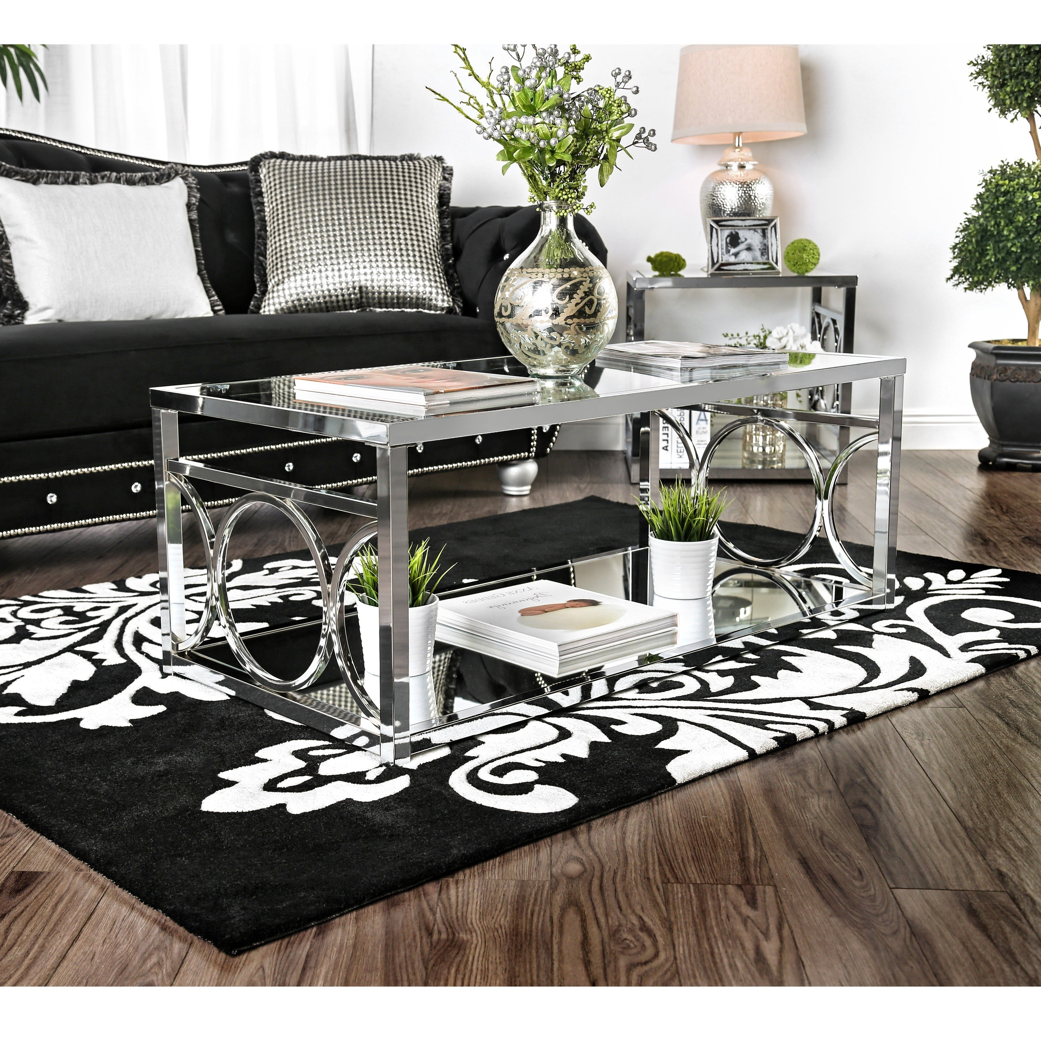 2020 Silver Orchid Ipsen Contemporary Glass Top Coffee Tables In Silver Orchid Ipsen Contemporary Glass Top Coffee Table (Gallery 1 of 20)