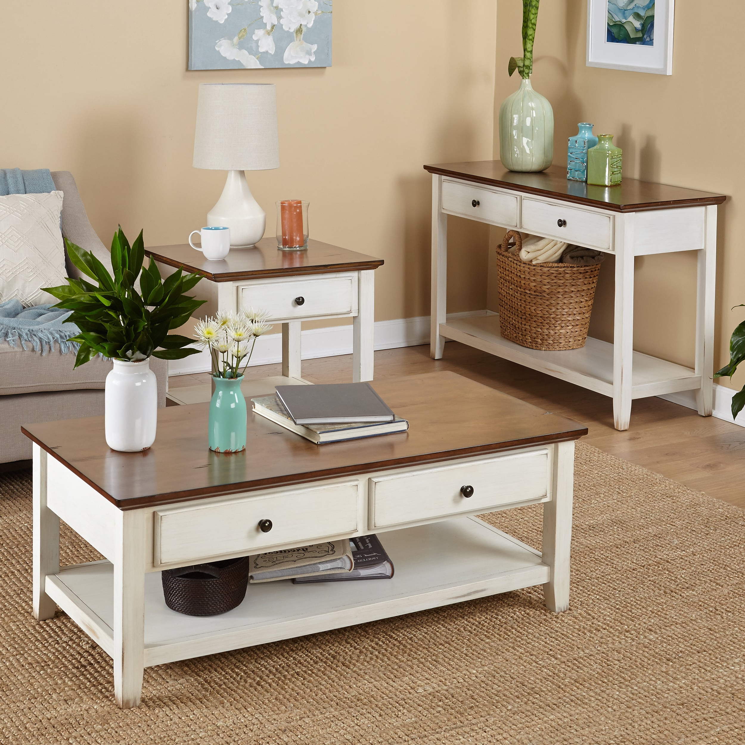 """2020 Simple Living Charleston Coffee Tables Regarding Simple Living Charleston Coffee Table – 18.1""""h X 47.6""""w X 23.6""""d (Gallery 2 of 20)"""