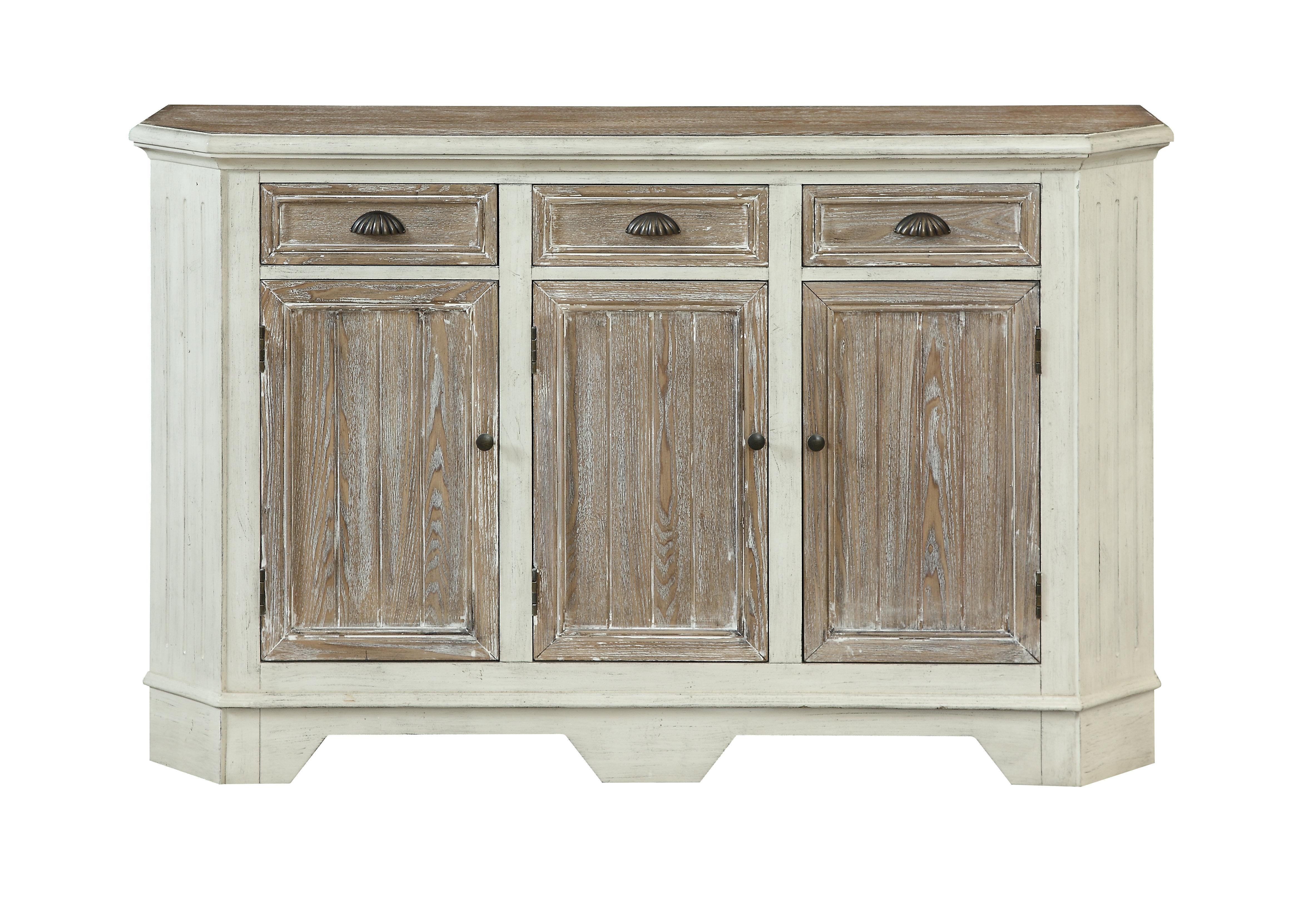 3 Drawer 3 Door Sideboard | Wayfair With Mauldin 3 Door Sideboards (Gallery 8 of 20)