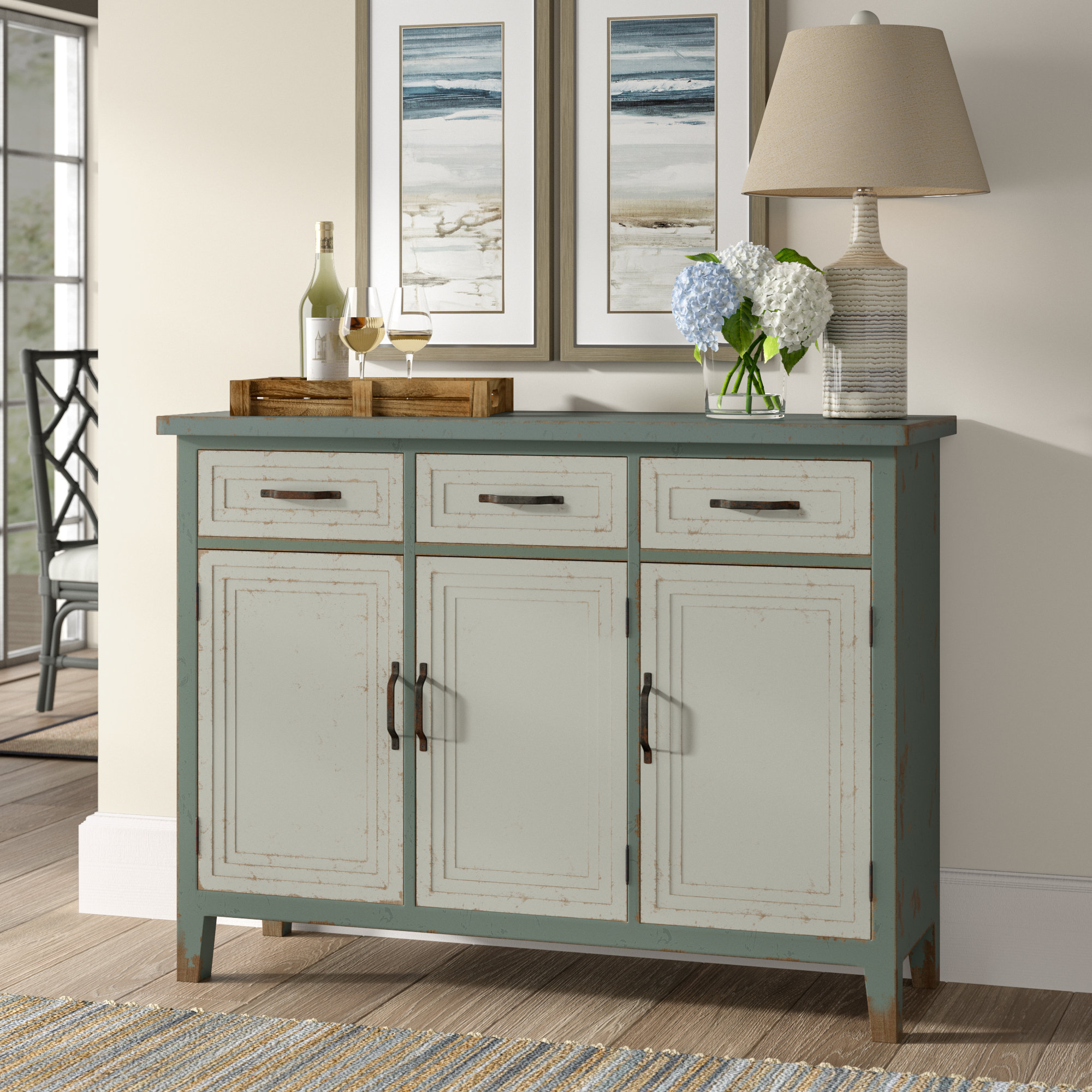 3 Drawer Credenza | Wayfair For Giulia 3 Drawer Credenzas (Gallery 4 of 20)