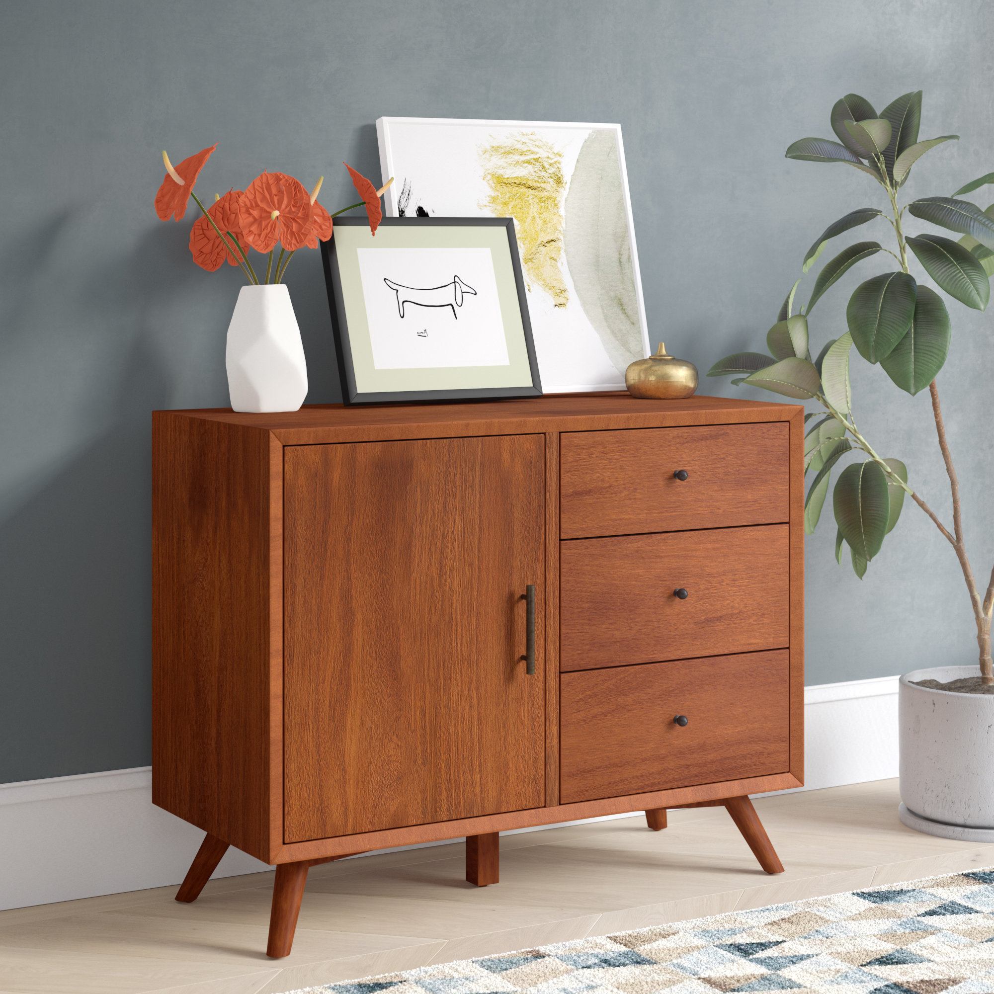 3 Drawer Sideboard | Wayfair For Drummond 3 Drawer Sideboards (View 2 of 20)