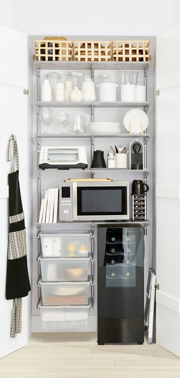 3' Pantry Shelving Solutions Sure To Utilize Every Inch Of Regarding Most Recent Eduarda Kitchen Pantry (View 16 of 20)