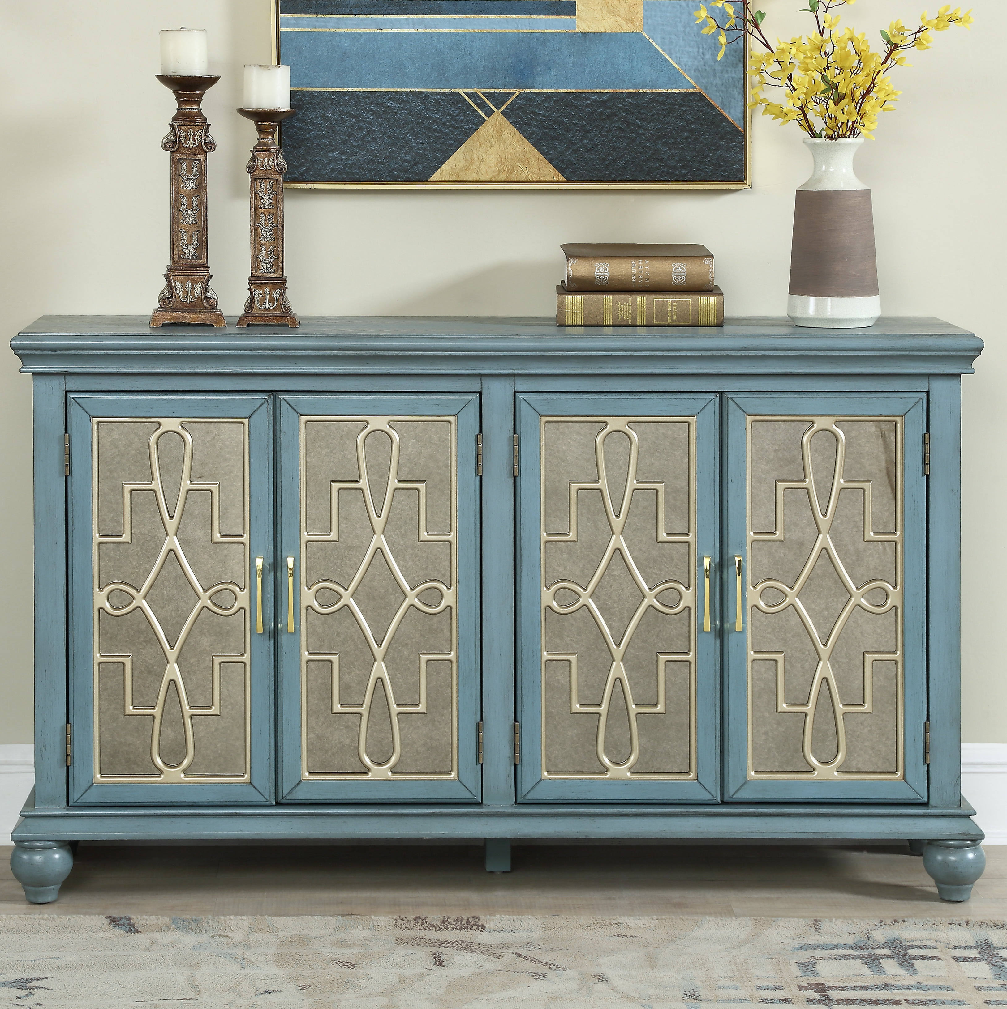 60 Inch Credenza   Wayfair Intended For Deana Credenzas (Gallery 3 of 20)