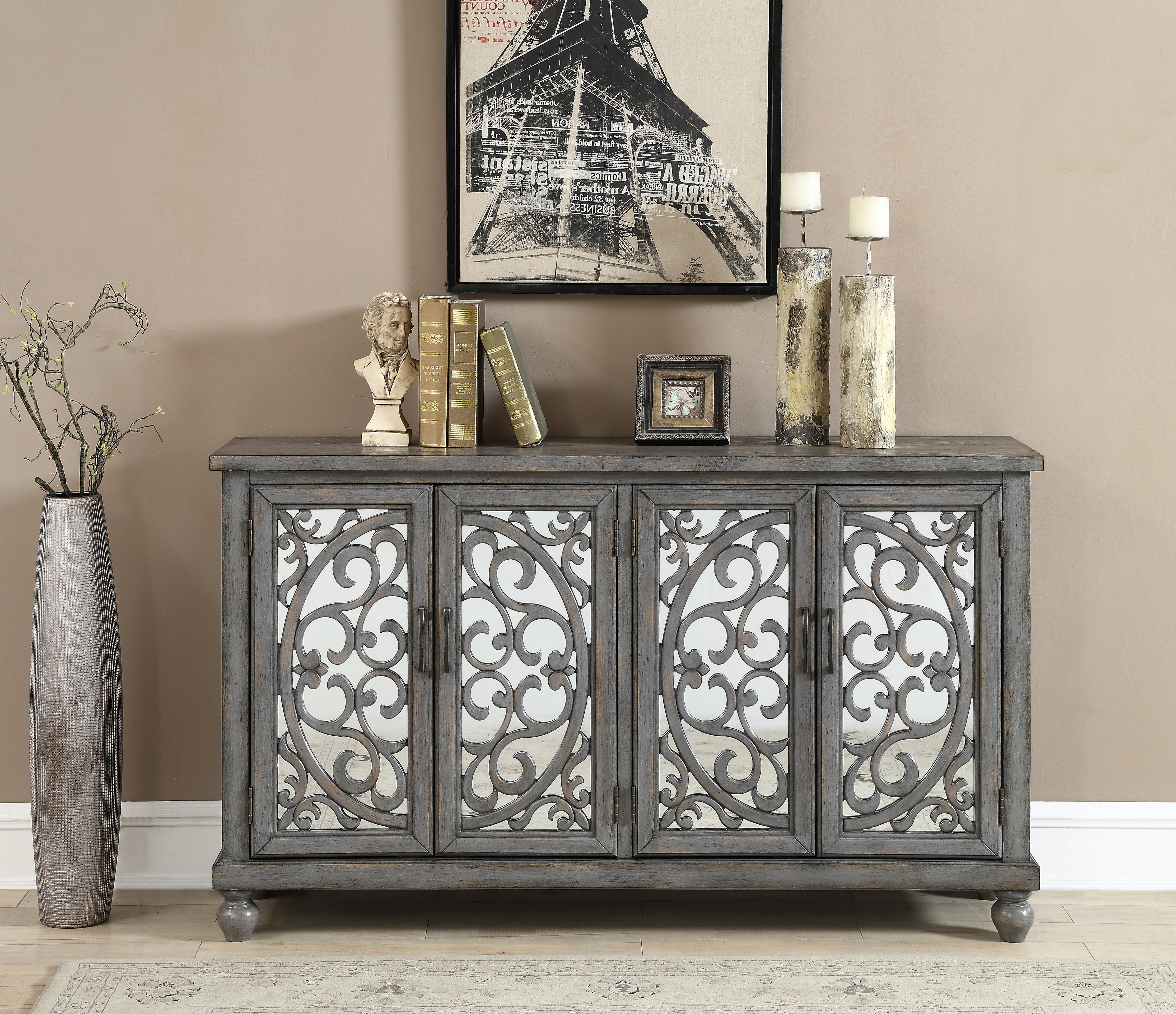 70 Inch Credenza | Wayfair Intended For Abhinav Credenzas (View 5 of 20)