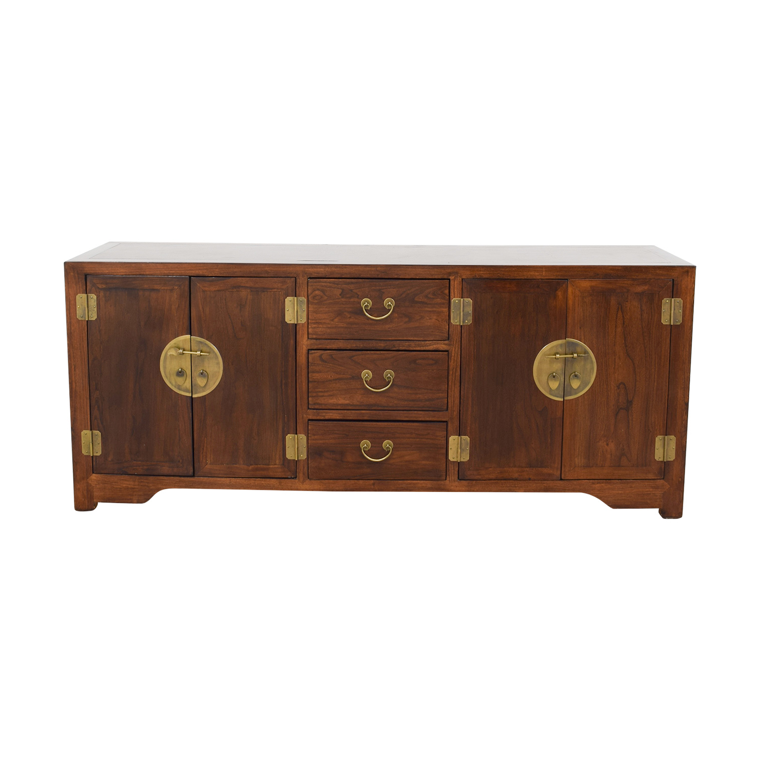 73% Off – Abc Carpet & Home Abc Carpet And Home Asian Inspired Wood Credenza / Storage Pertaining To Seven Seas Asian Sideboards (View 19 of 20)