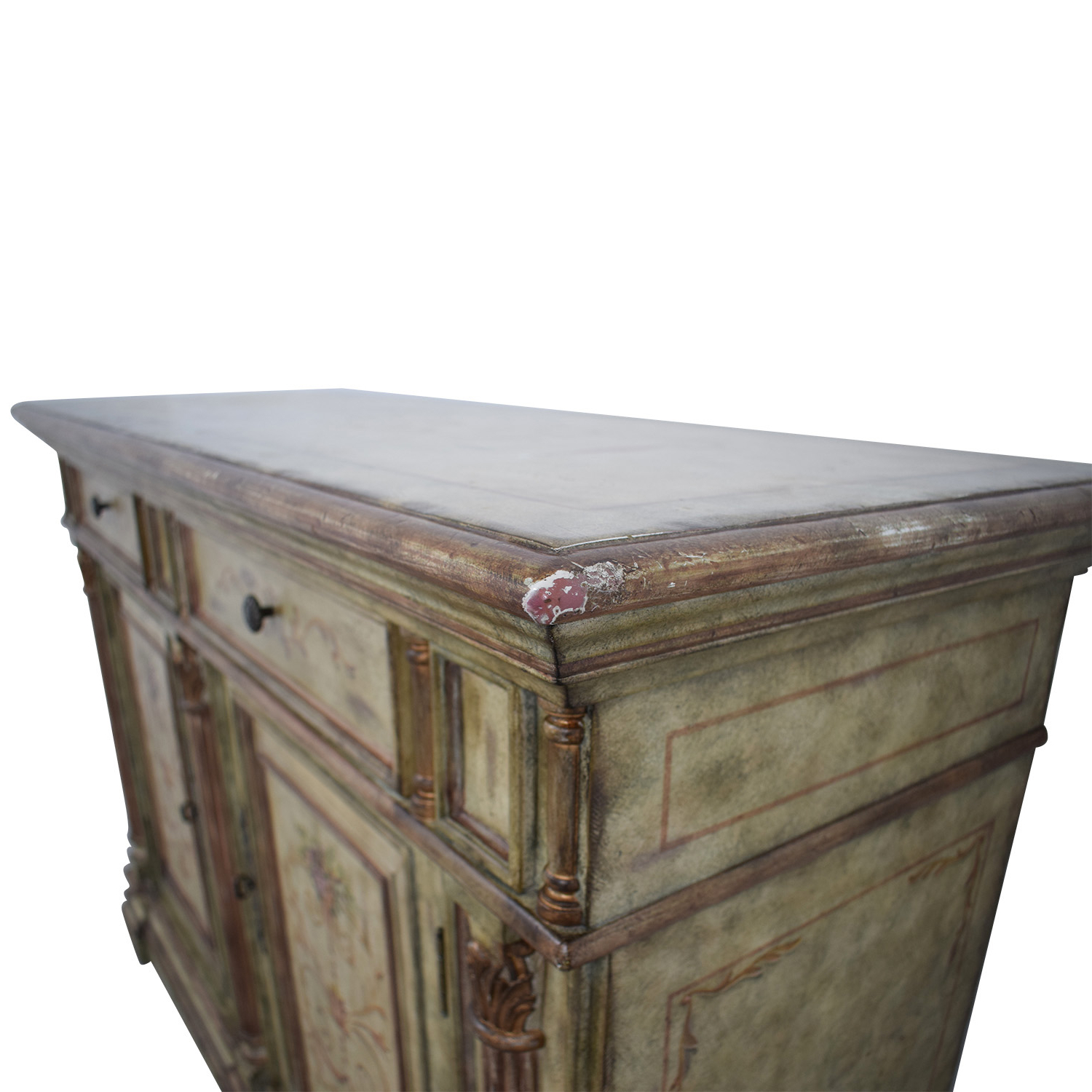 78% Off – Hooker Furniture Hooker Furniture Seven Seas Creme Scroll Painted Sideboard / Storage Intended For Seven Seas Asian Sideboards (View 10 of 20)