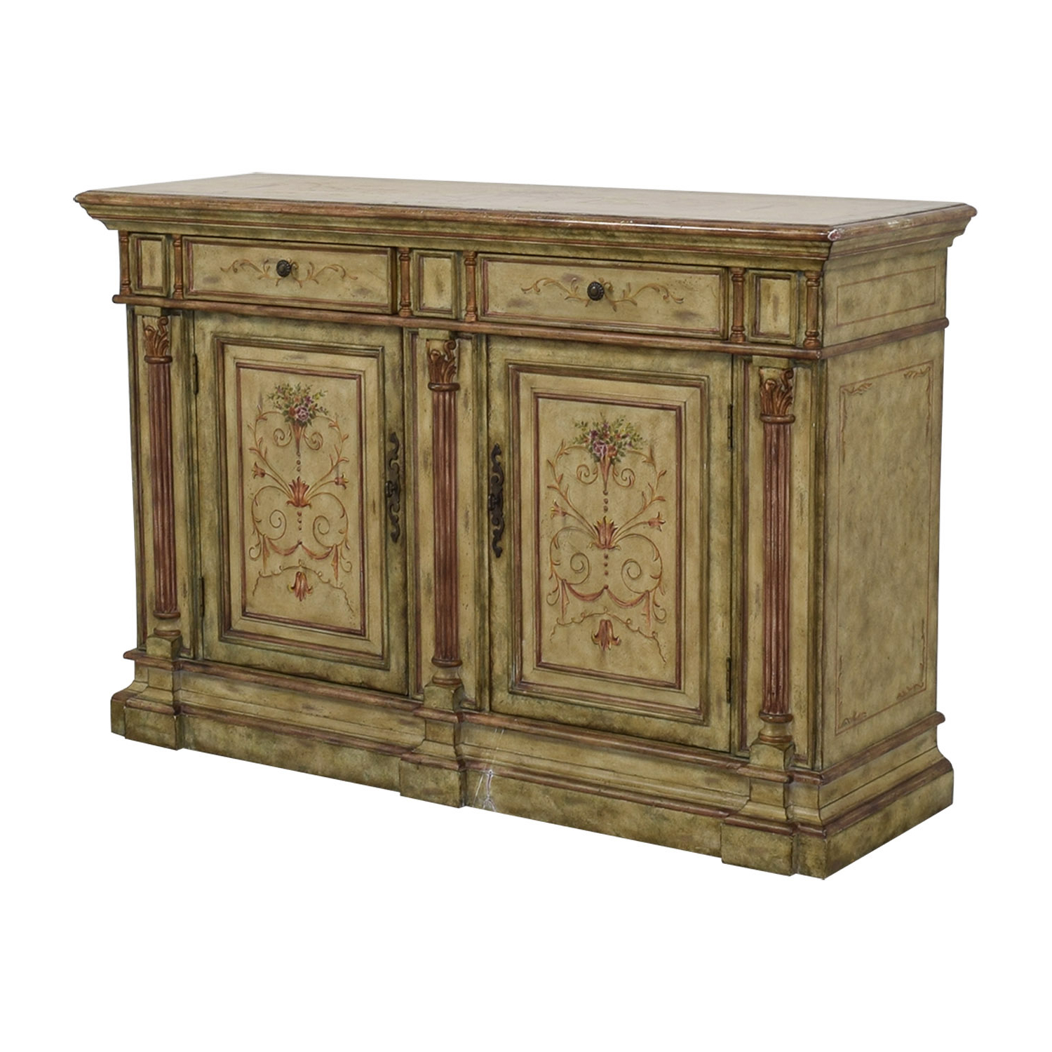78% Off – Hooker Furniture Hooker Furniture Seven Seas Creme Scroll Painted Sideboard / Storage Throughout Seven Seas Asian Sideboards (View 9 of 20)
