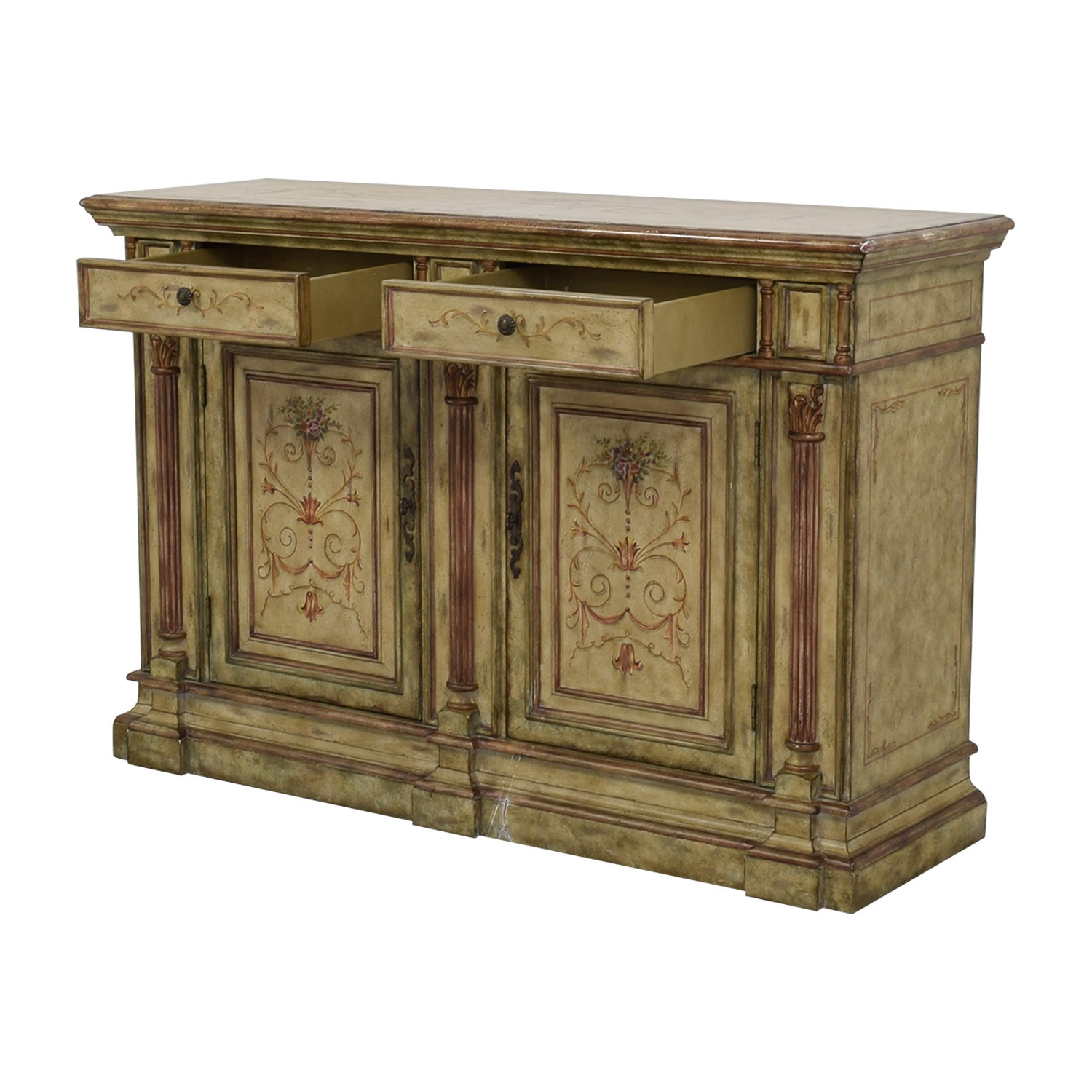 78% Off – Hooker Furniture Hooker Furniture Seven Seas Creme Scroll Painted Sideboard / Storage Throughout Seven Seas Asian Sideboards (View 6 of 20)
