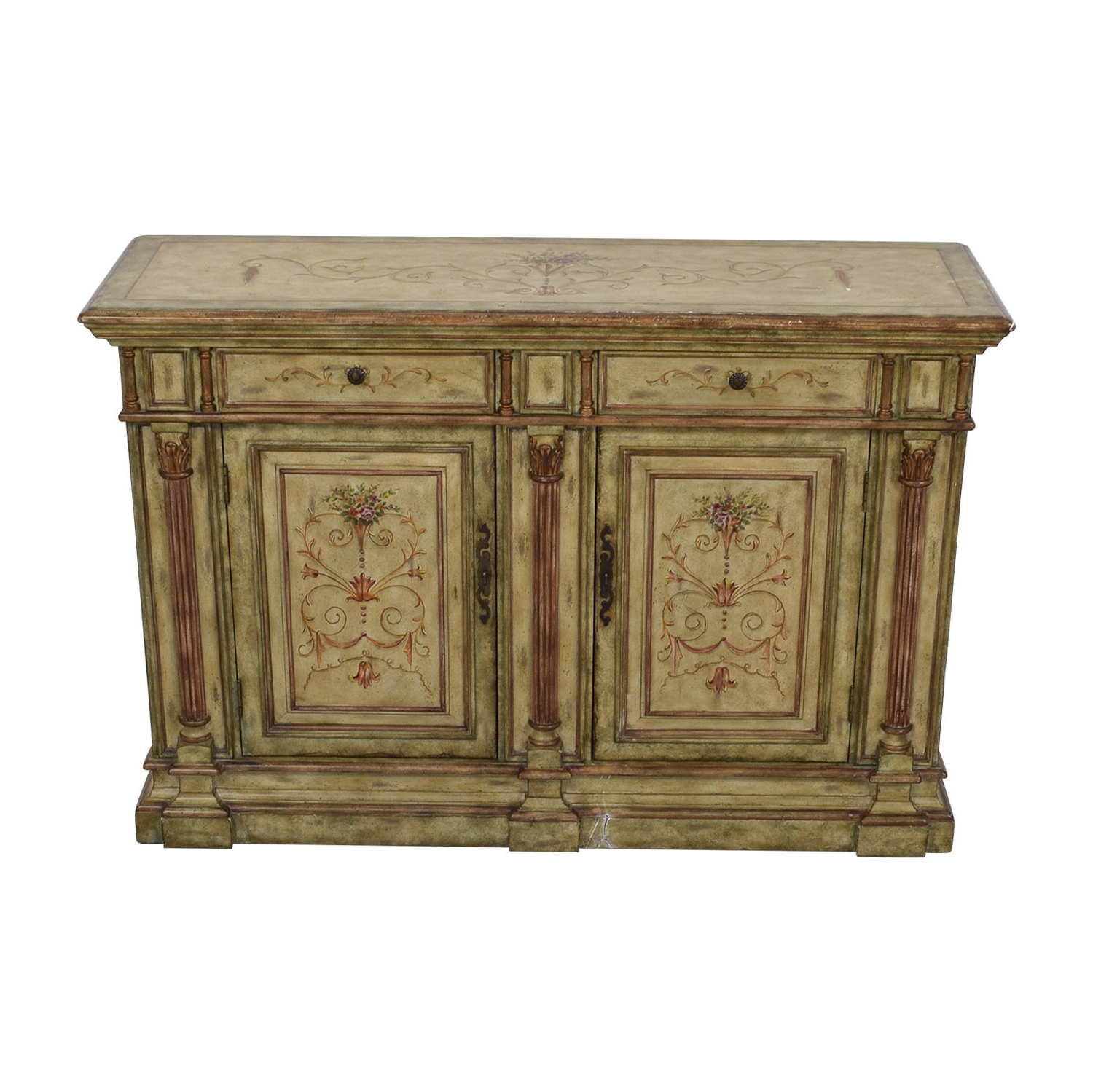 78% Off – Hooker Furniture Hooker Furniture Seven Seas Creme Scroll Painted Sideboard / Storage With Regard To Seven Seas Asian Sideboards (View 4 of 20)