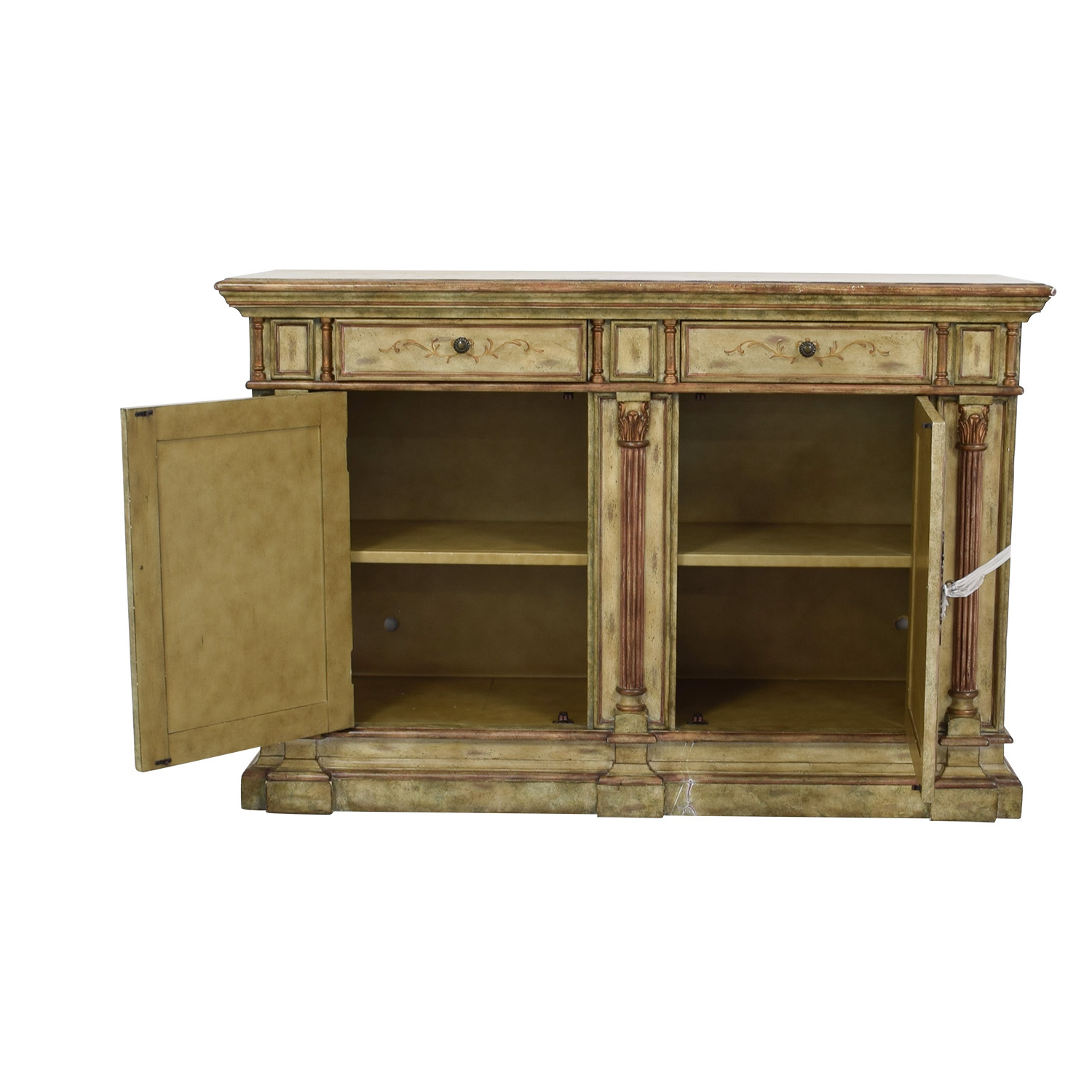 78% Off – Hooker Furniture Hooker Furniture Seven Seas Creme Scroll Painted Sideboard / Storage Within Seven Seas Asian Sideboards (View 5 of 20)