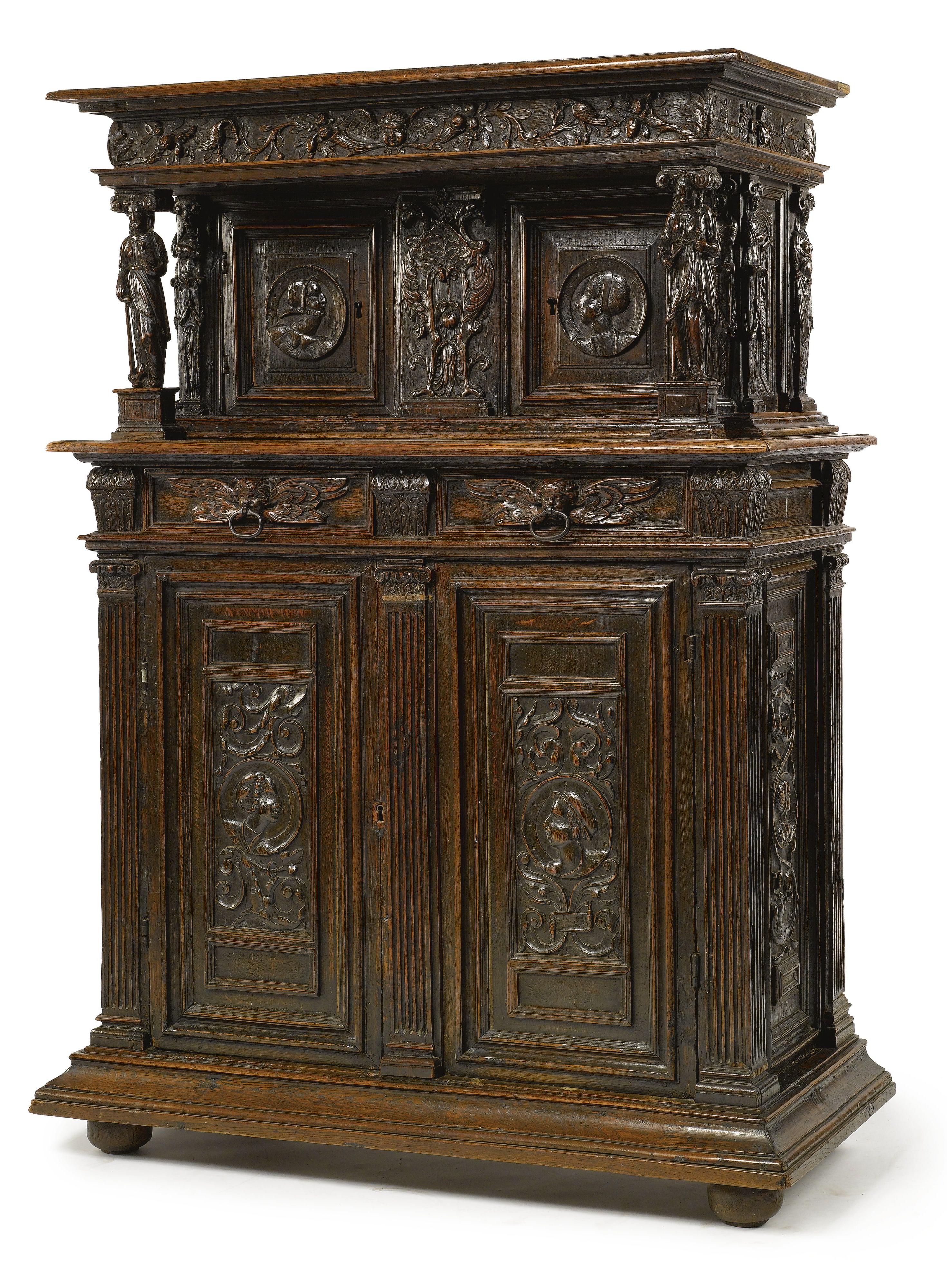 A Flemish Late Renaissance Carved Oak Buffet À Deux Corps Regarding Cambrai Sideboards (View 20 of 20)
