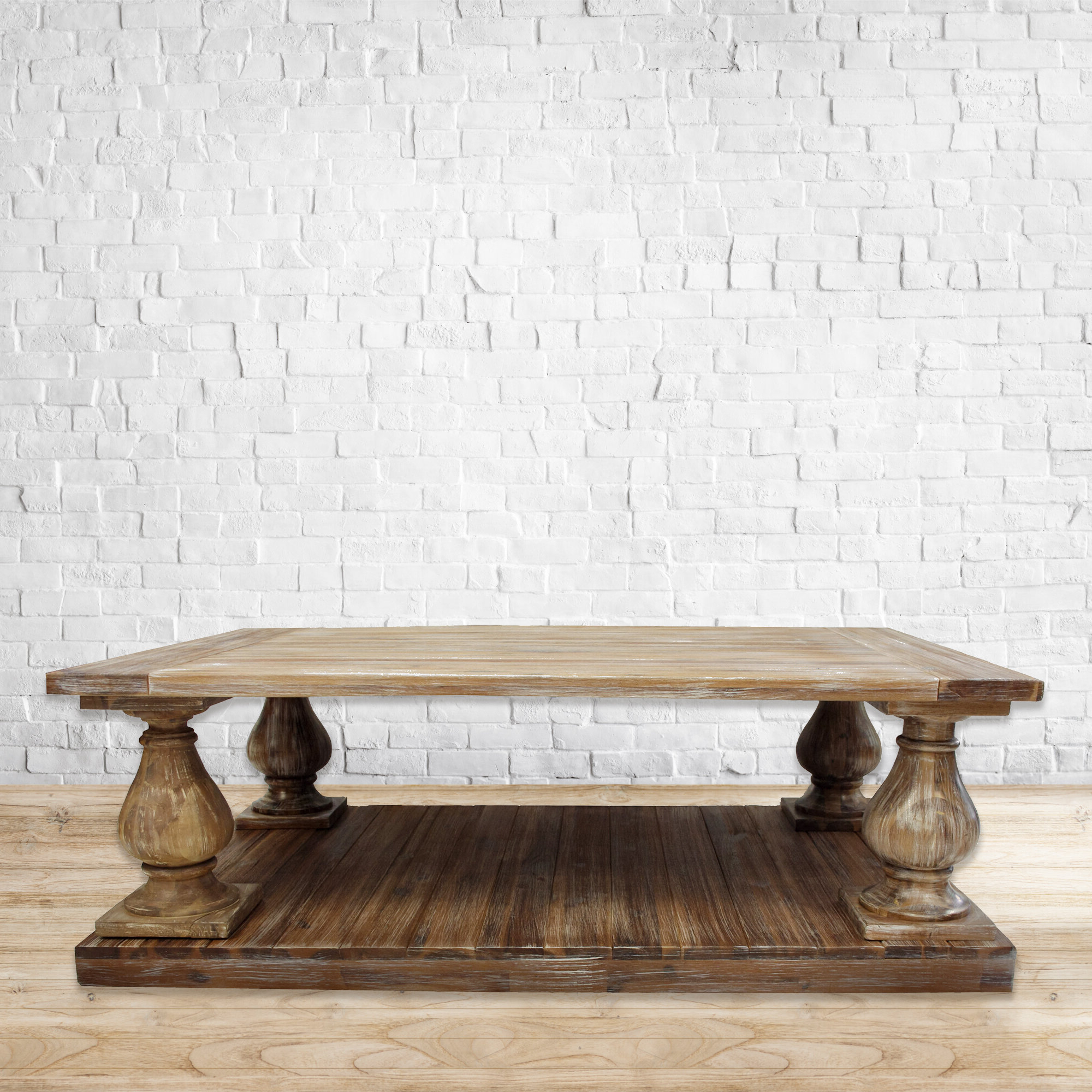 Abernethy Coffee Table With Regard To Latest Furniture Of America Charlotte Weathered Oak Glass Top Coffee Tables (View 4 of 20)