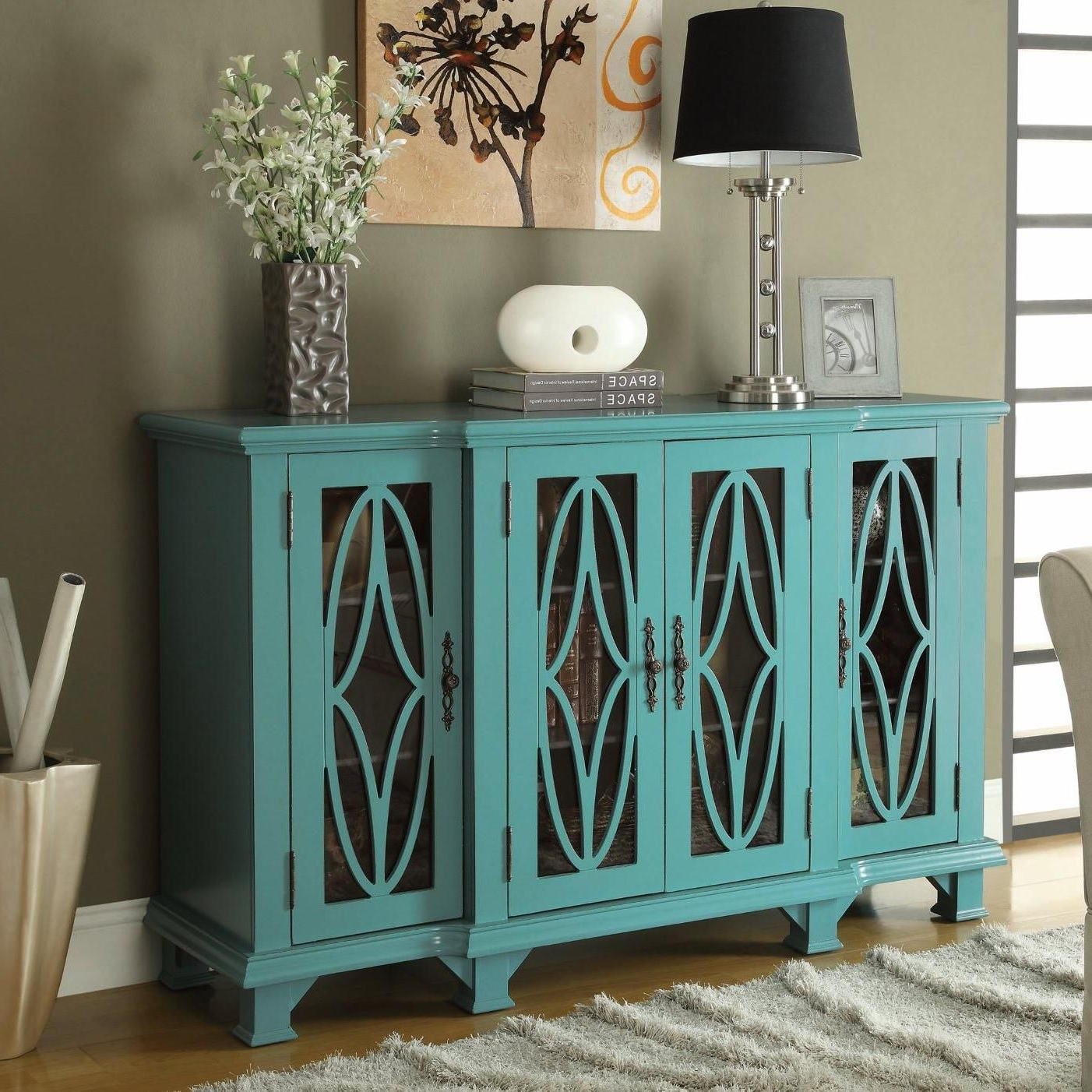 Accent Cabinets Cabinetcoaster | Our Dream Home | Teal With Kara 4 Door Accent Cabinets (View 8 of 20)