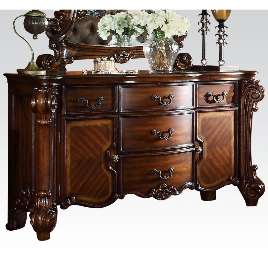 Acme Vendome Dresser/server In Cherry – Ac 22005 | Ikea Within Chalus Sideboards (View 1 of 20)
