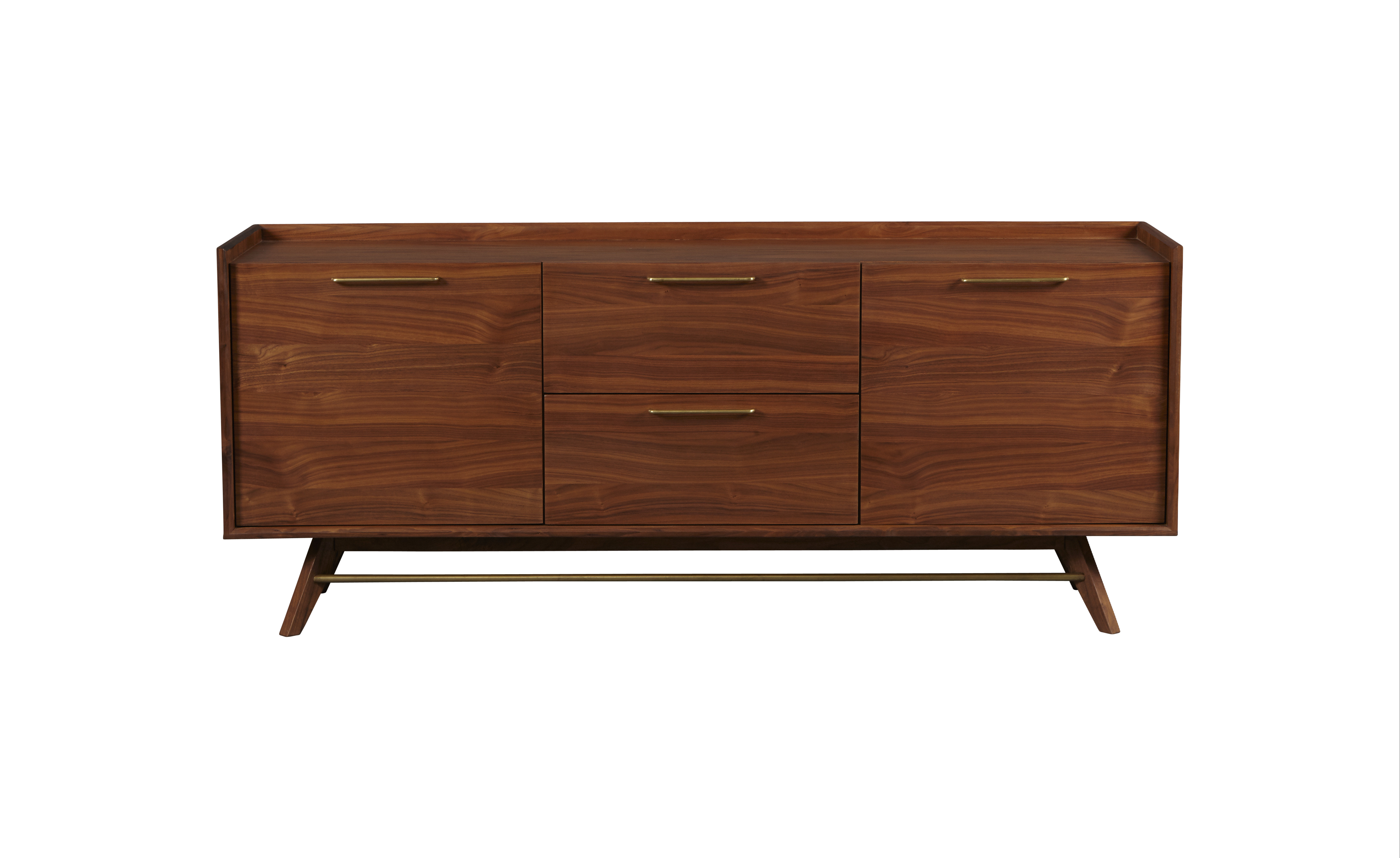 Adam 3 Section Sideboard With Keiko Modern Bookmatch Sideboards (View 1 of 20)