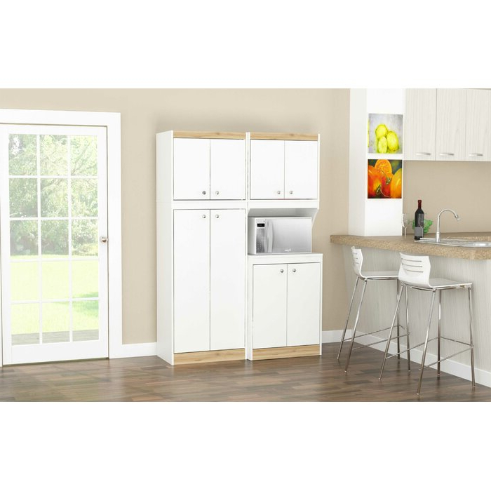 Amaia 2 Piece Kitchen Pantry Within 2020 Blanken Kitchen Pantry (View 10 of 20)