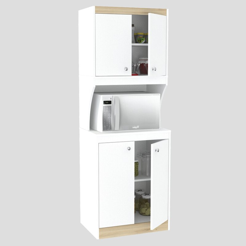 Amaia 3 Piece Kitchen Pantry For Best And Newest Amaia 3 Piece Kitchen Pantry (View 1 of 20)