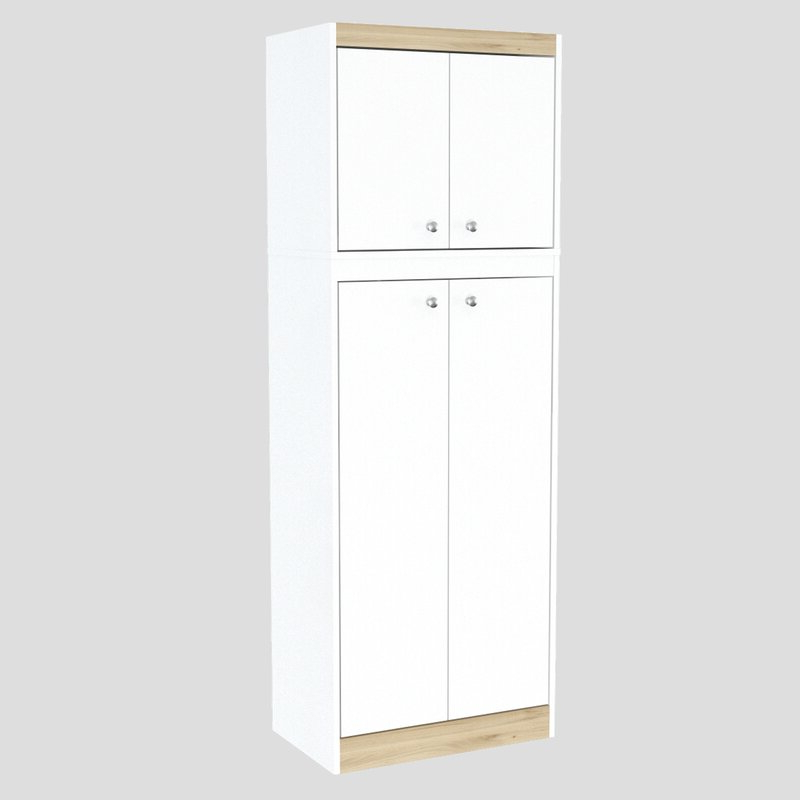 Amaia 3 Piece Kitchen Pantry Intended For Popular Amaia 3 Piece Kitchen Pantry (View 7 of 20)