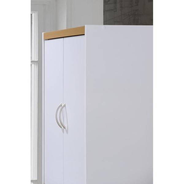 Amaia 3 Piece Kitchen Pantry Within Preferred Hodedah 4 Door White Kitchen Pantry Hi224 White – The Home Depot (View 4 of 20)