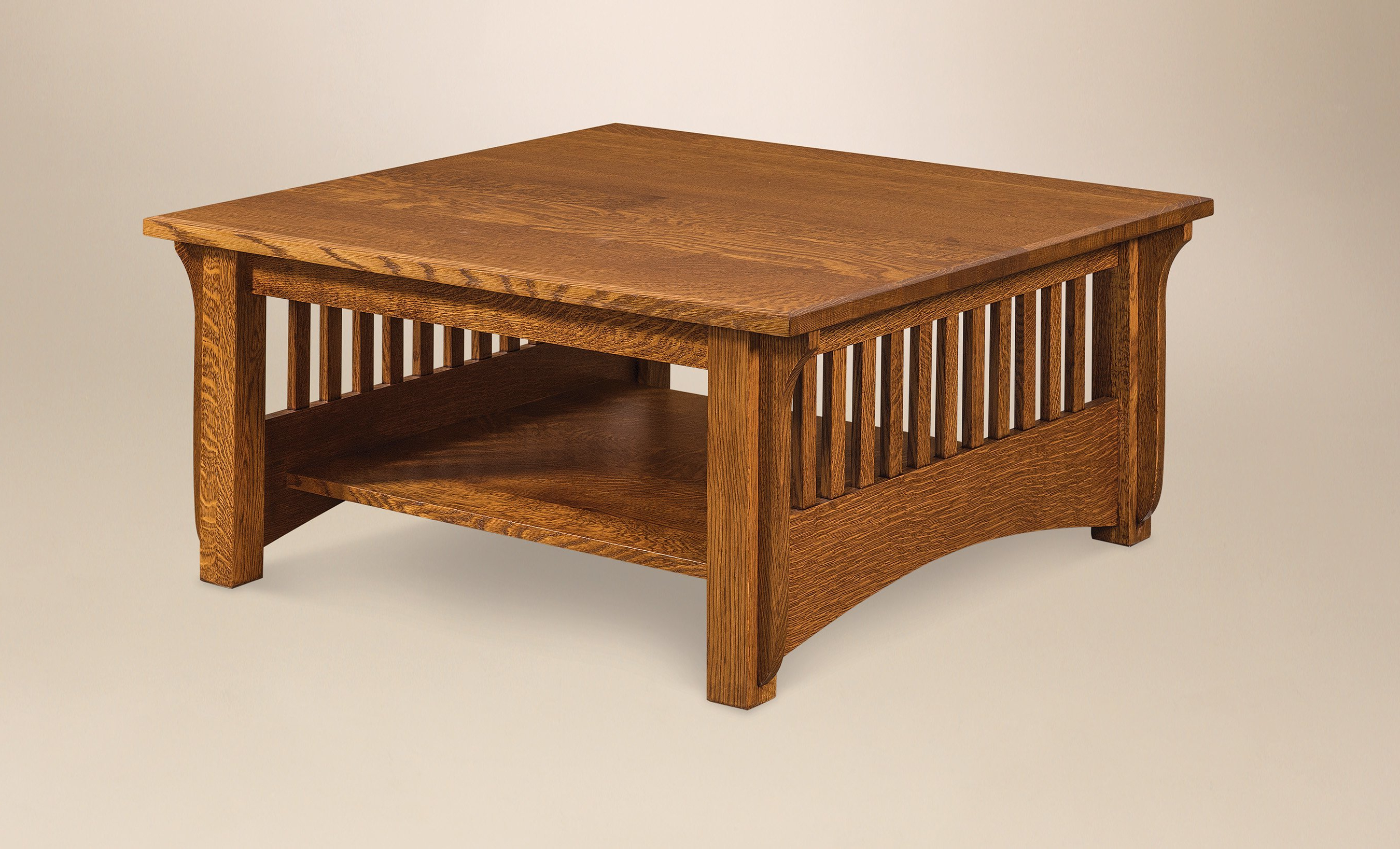 Amish Pioneer Mission Square Coffee Table Pertaining To Most Up To Date Lockwood Rectangle Coffee Tables (View 3 of 20)