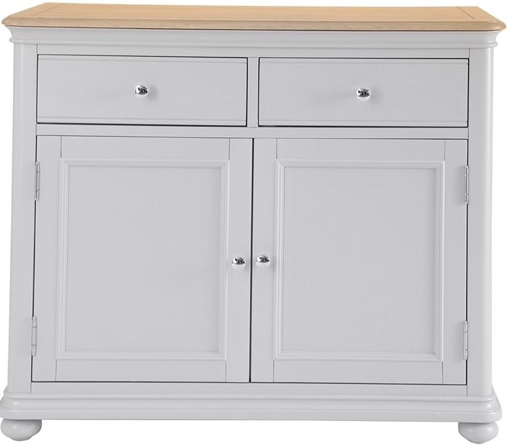 Annecy Medium Sideboard – Oak And Soft Grey Painted Throughout Annecy Sideboards (View 4 of 20)