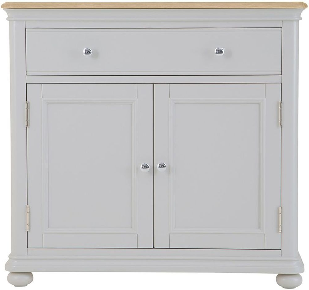 Annecy Small Sideboard – Oak And Soft Grey Painted In Annecy Sideboards (View 3 of 20)