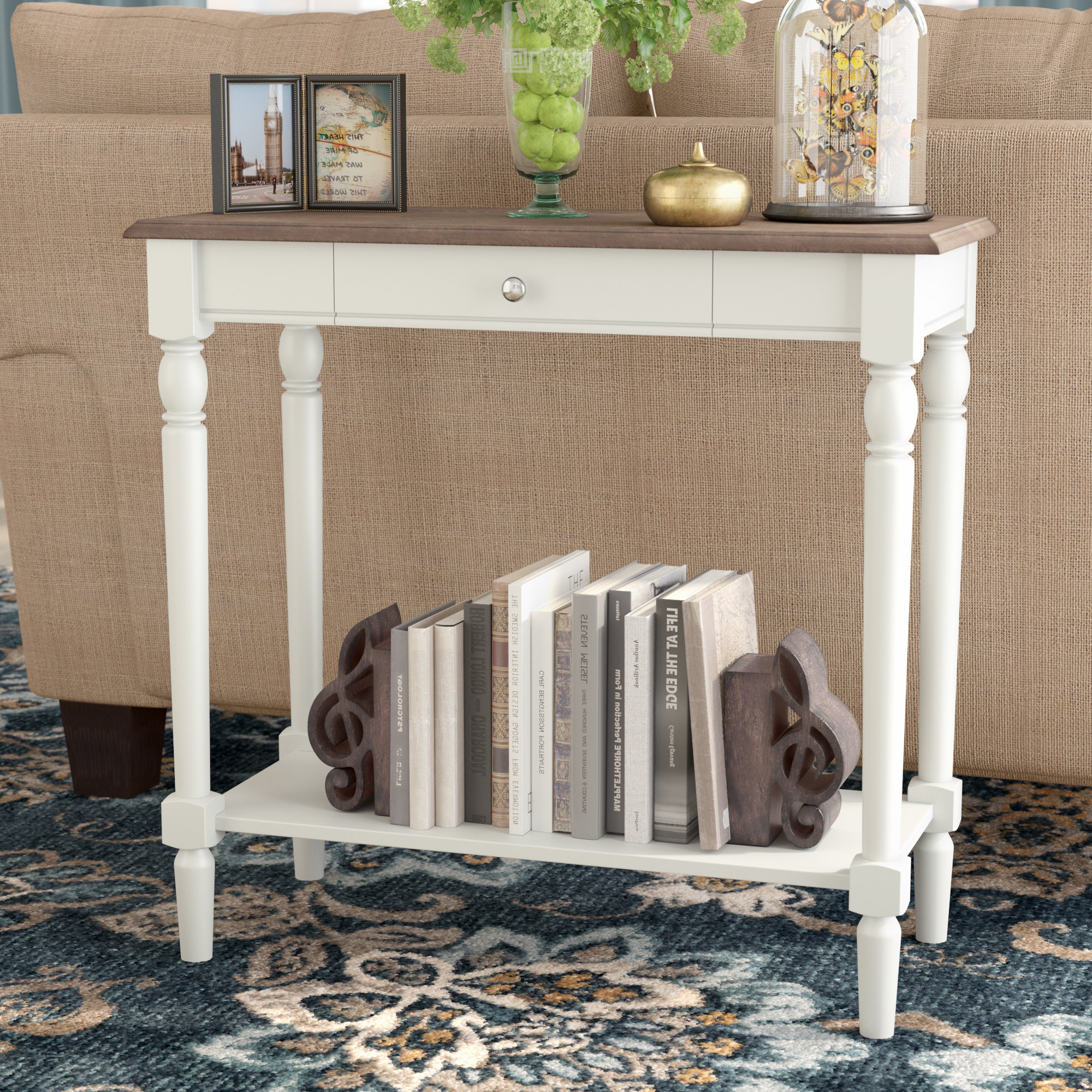Ariella Console Table In Popular Arella Ii Modern Distressed Grey White Coffee Tables (View 15 of 20)